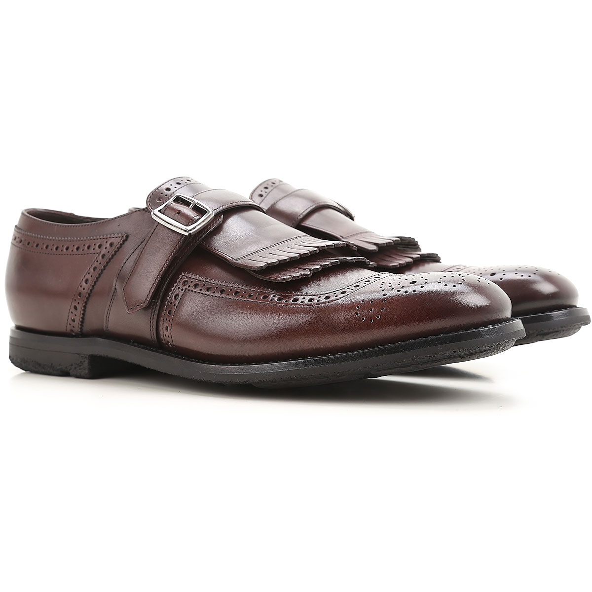 Image of Church's Monk Strap Shoes for Men, Ebony, Leather, 2017, 10 8.5