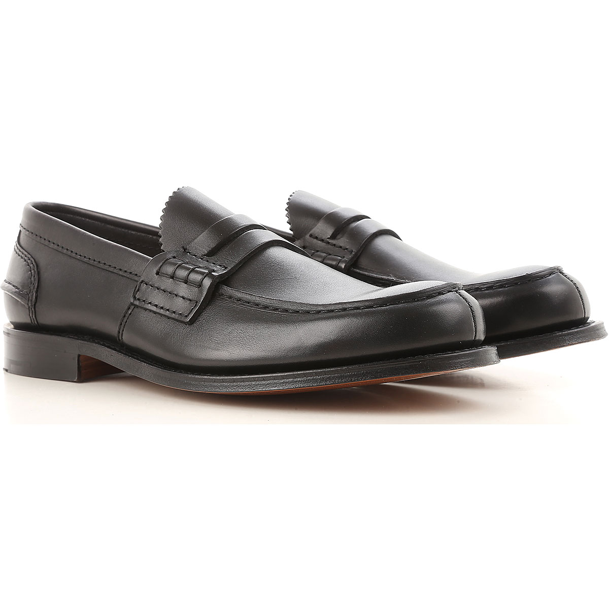 Image of Church's Loafers for Men, Black, Leather, 2017, 10 11 7.5 8 8.5 9 9.5