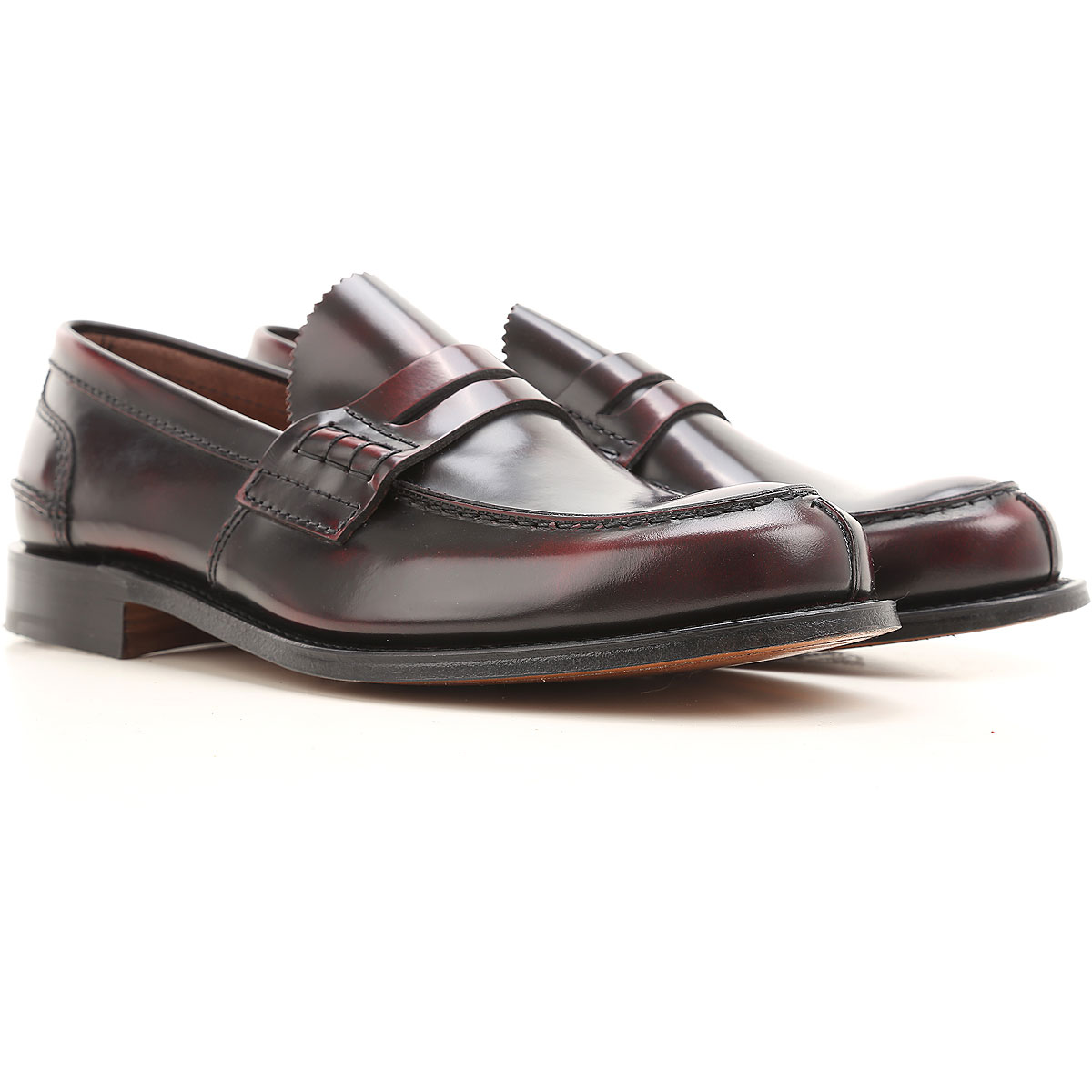 Image of Church's Loafers for Men, Burgundy, Leather, 2017, 10.5 11 8.5 9