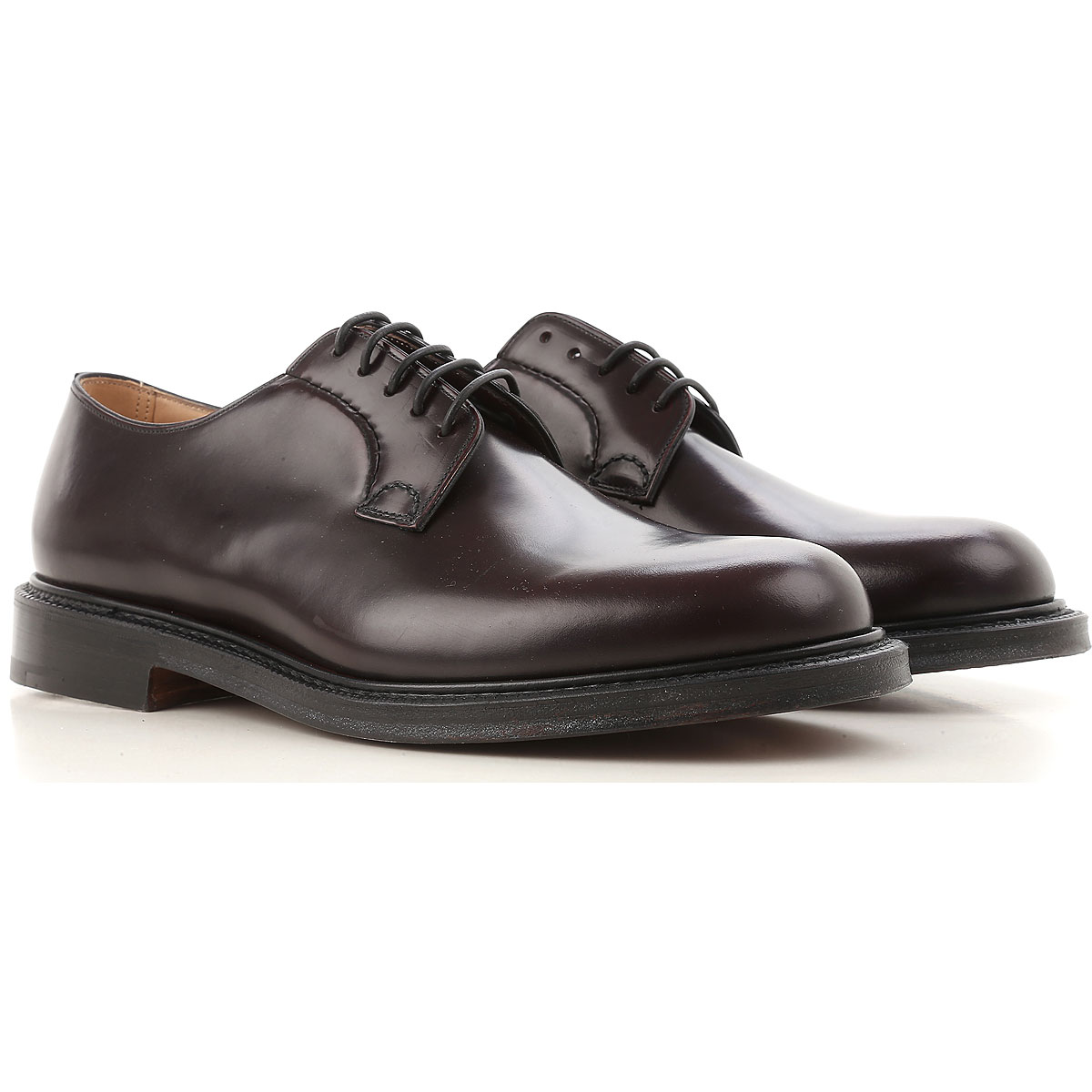 Image of Church's Mens Shoes On Sale, Dark Bordeaux, Leather, 2017, 7 9