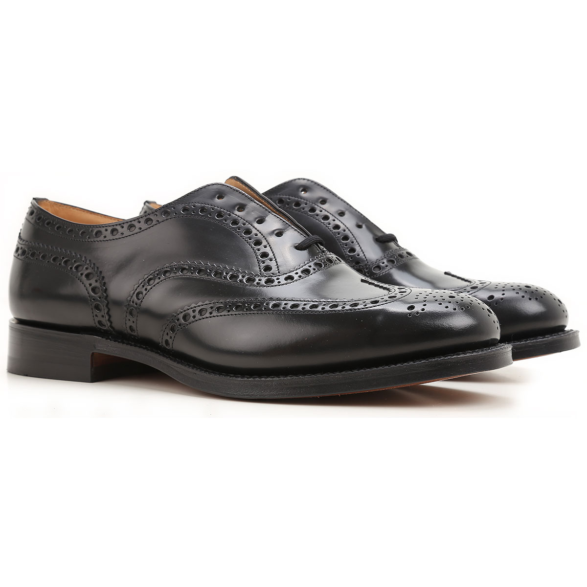 Image of Church's Brogue Shoes, Black, Leather, 2017, 10 10.5 7.5 8 8.5