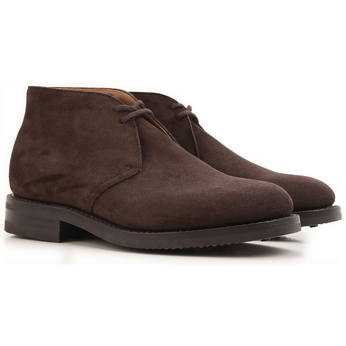 Image of Church's Desert Boots Chukka for Men On Sale, Ryder3, Dark Brown, Suede leather, 2017, 7 7.5 8