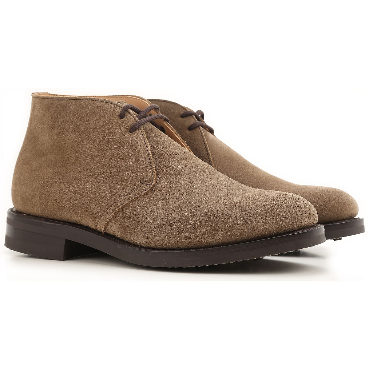 Image of Church's Desert Boots Chukka for Men On Sale, Ryder3, Mud, Suede leather, 2017, 11 7 7.5 8.5