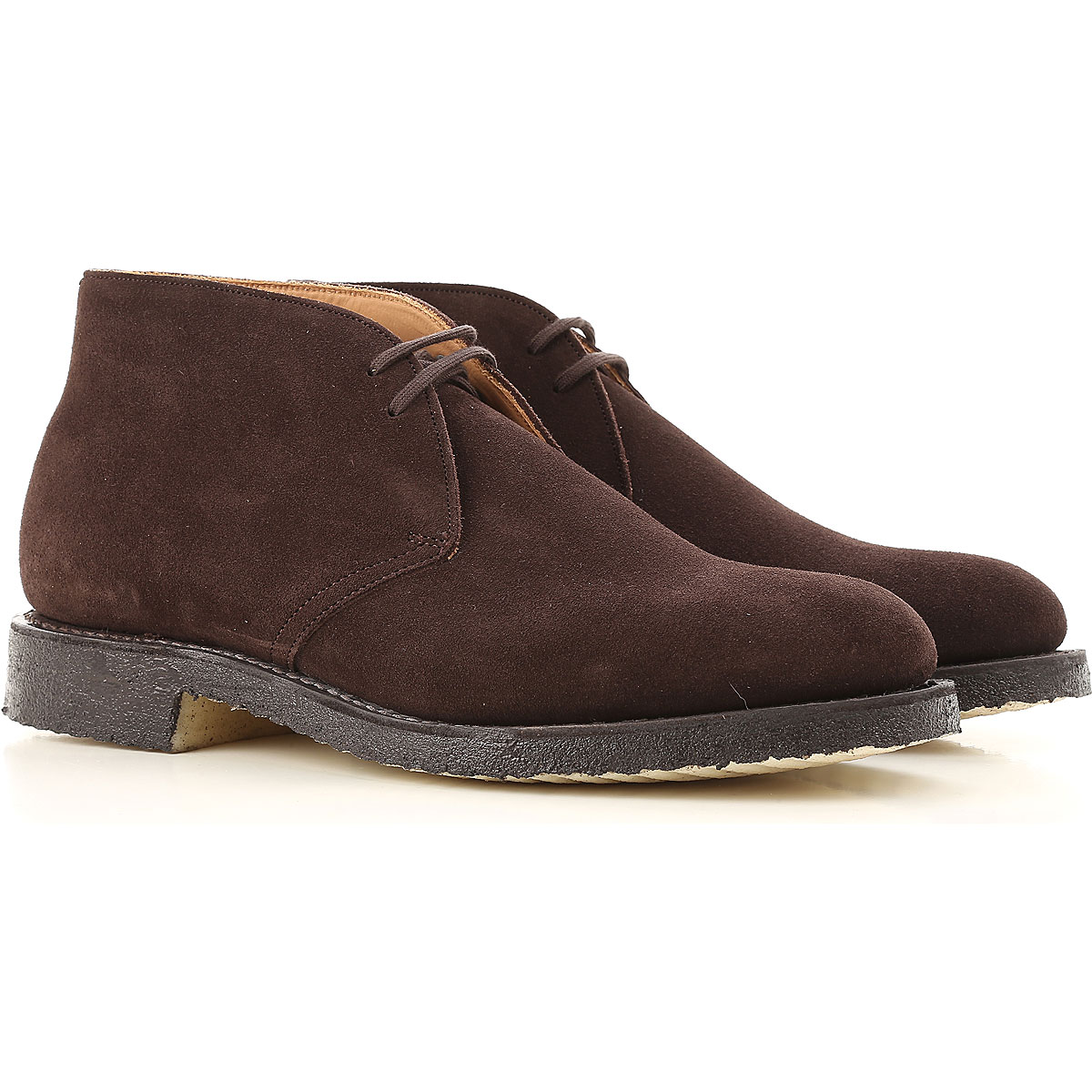 Image of Church's Desert Boots Chukka for Men, Brown, Suede leather, 2017, 10 10.5 11 7 7.5 8 8.5 9 9.5