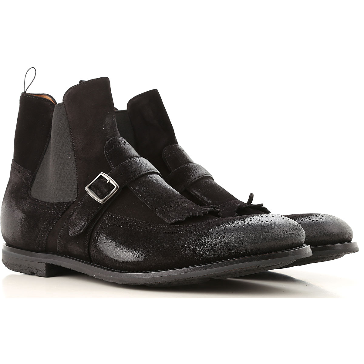 Image of Church's Boots for Men, Booties, Black, suede, 2017, 10 12 9 9.5