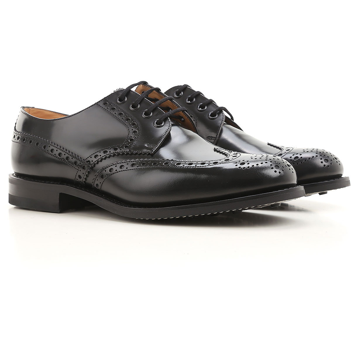 Image of Church's Lace Up Shoes for Men Oxfords, Derbies and Brogues, Black, Leather, 2017, 10 10.5 11 7 7.5 8 8.5 9 9.5