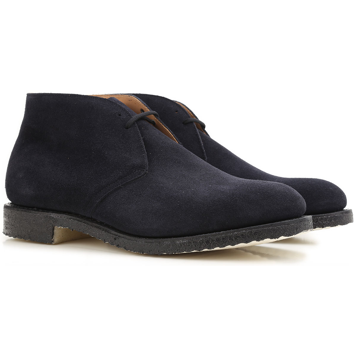 Image of Church's Desert Boots Chukka for Men, navy, Suede leather, 2017, 10 10.5 11 7 8 8.5 9.5