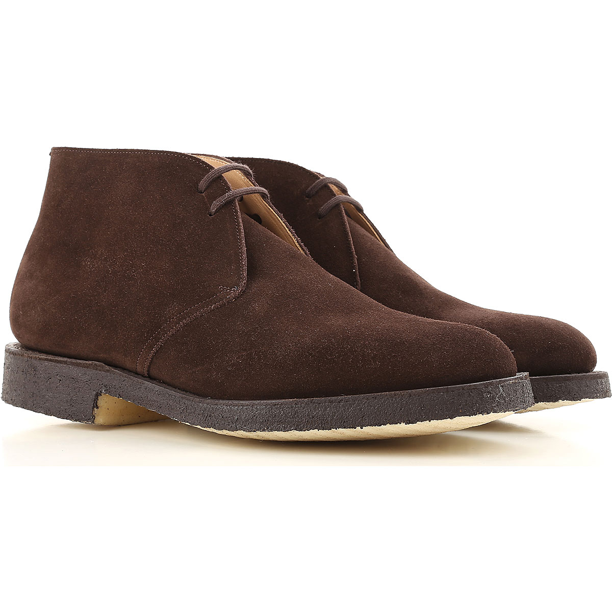 Image of Church's Desert Boots Chukka for Men On Sale in Outlet, Brown, Suede leather, 2017, 11 7 7.5
