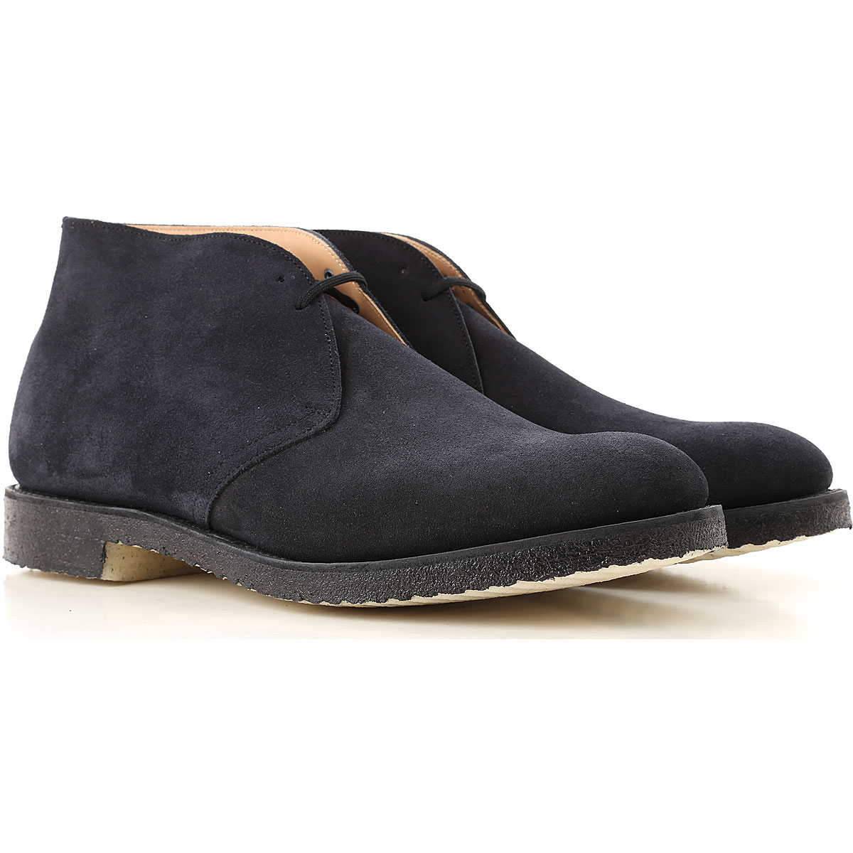 Image of Church's Desert Boots Chukka for Men, navy, Suede leather, 2017, 10 10.5 11 7 7.5 8 8.5 9 9.5