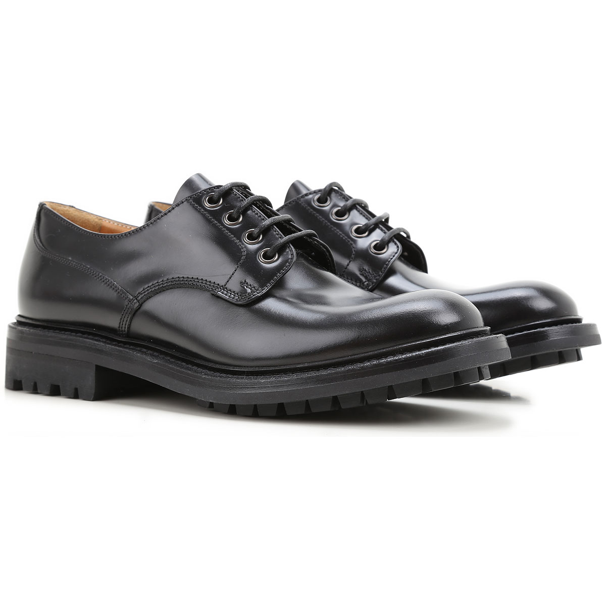 Image of Church's Oxford Lace up Shoes for Women On Sale in Outlet, Black, Leather, 2017, 7 9