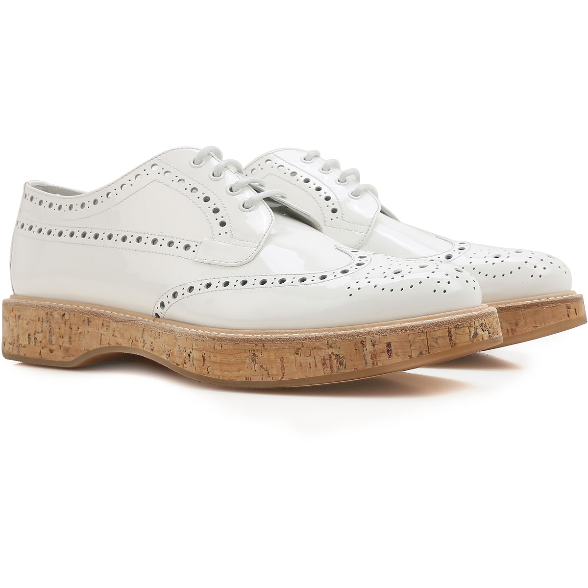 Image of Church's Oxford Lace up Shoes for Women On Sale in Outlet, White, Patent Leather, 2017, 10 8 8.5 9