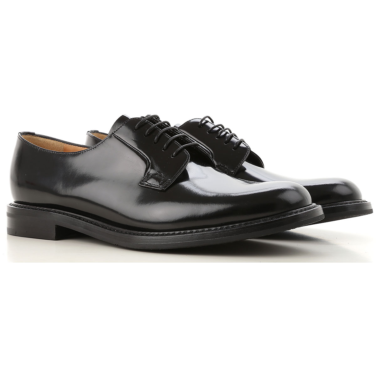 Image of Church's Oxford Lace up Shoes for Women, Black, Leather, 2017, 10 6.5 7 8 8.5