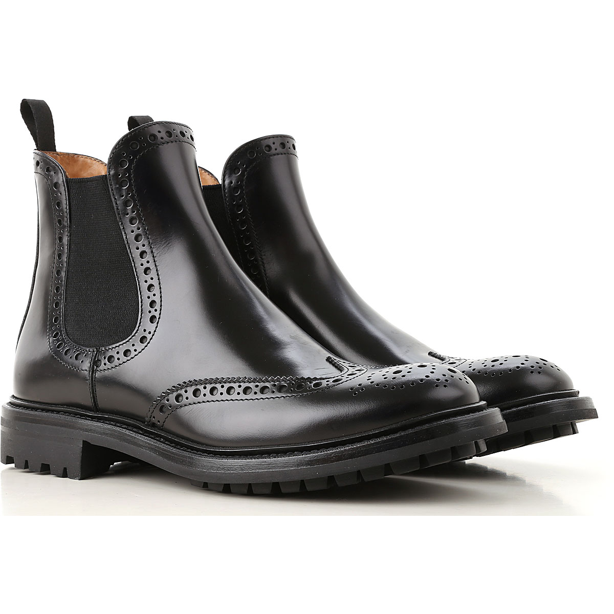Image of Church's Chelsea Boots for Women, Black, Patent Leather, 2017, 10 5 6 6.5 7 8 8.5