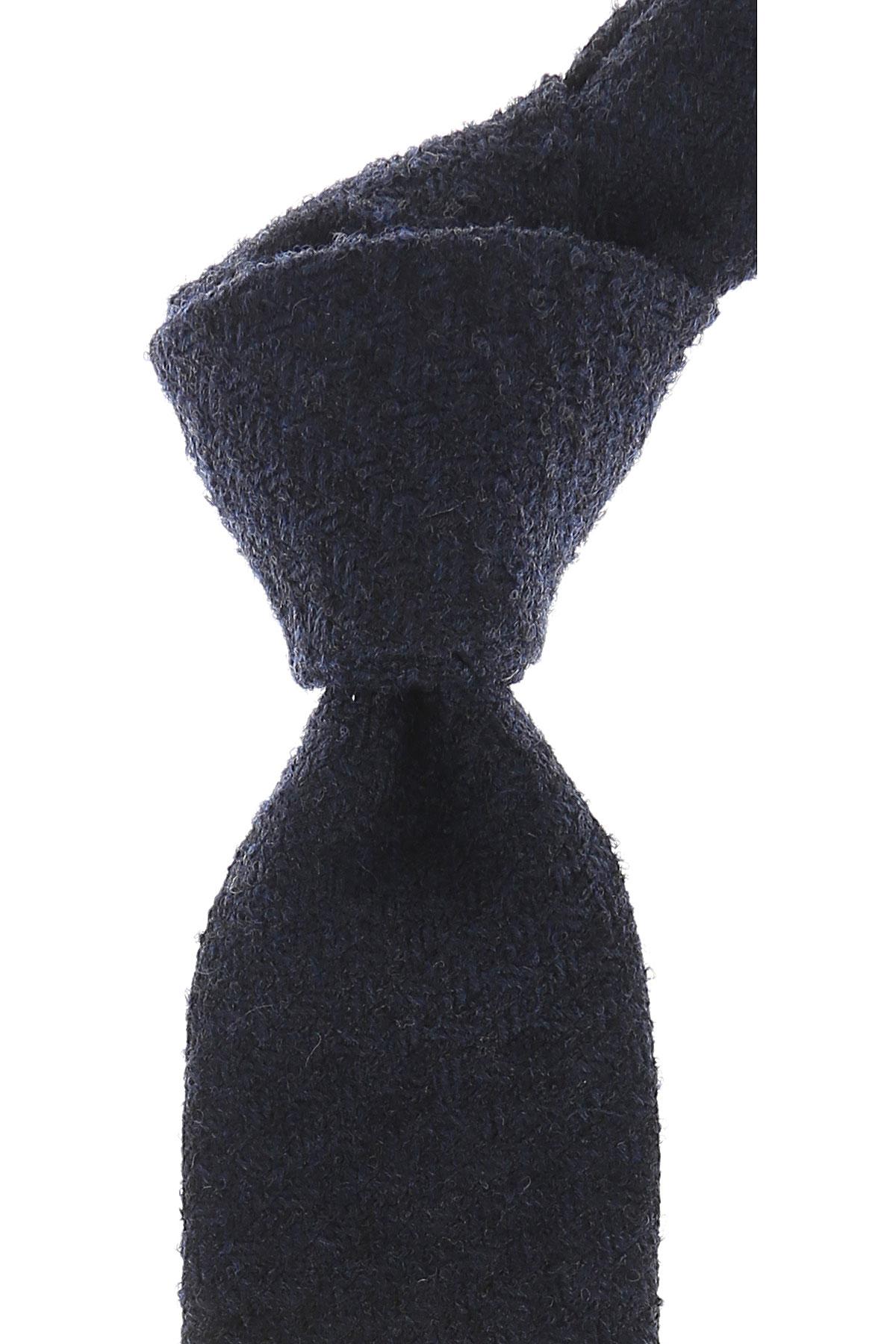 Church's Cravates Pas cher en Soldes, Mélange bleu marine, Laine vierge, 2019