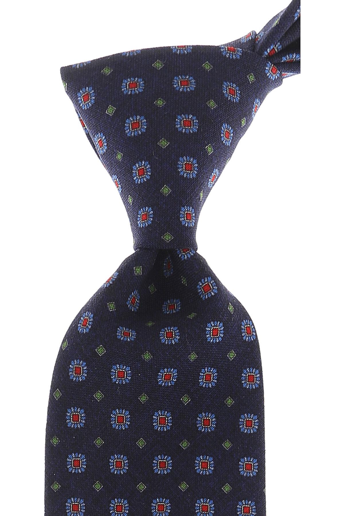Church's Cravates Pas cher en Soldes, Bleu marine, Laine vierge, 2017