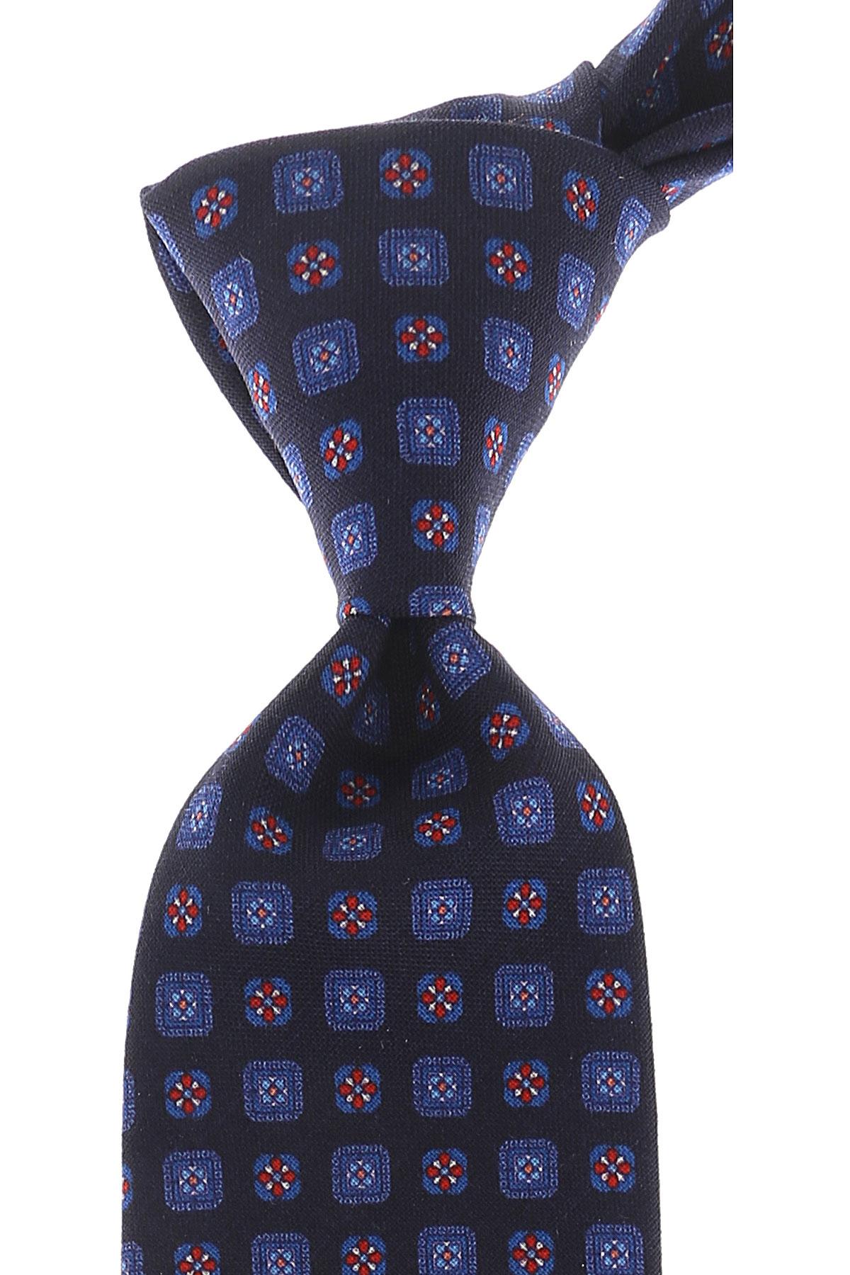 Church's Cravates Pas cher en Soldes, Bleu nuit, Laine vierge, 2017