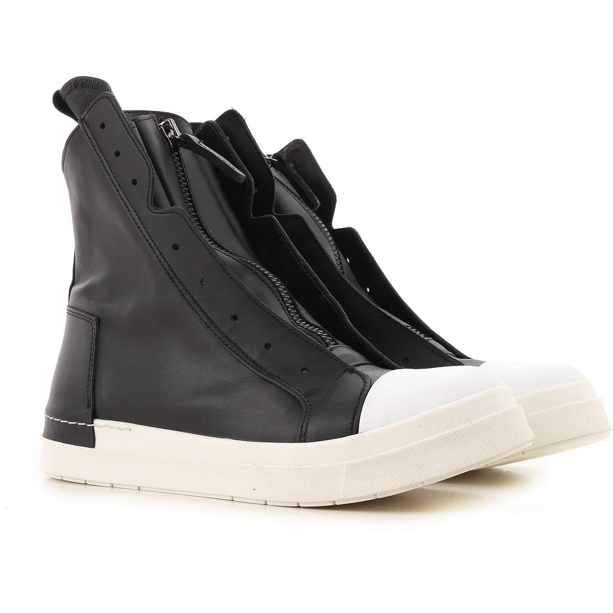Cinzia Araia Sneaker Homme, Noir, Cuir, 2019, 40 41 42 43 44