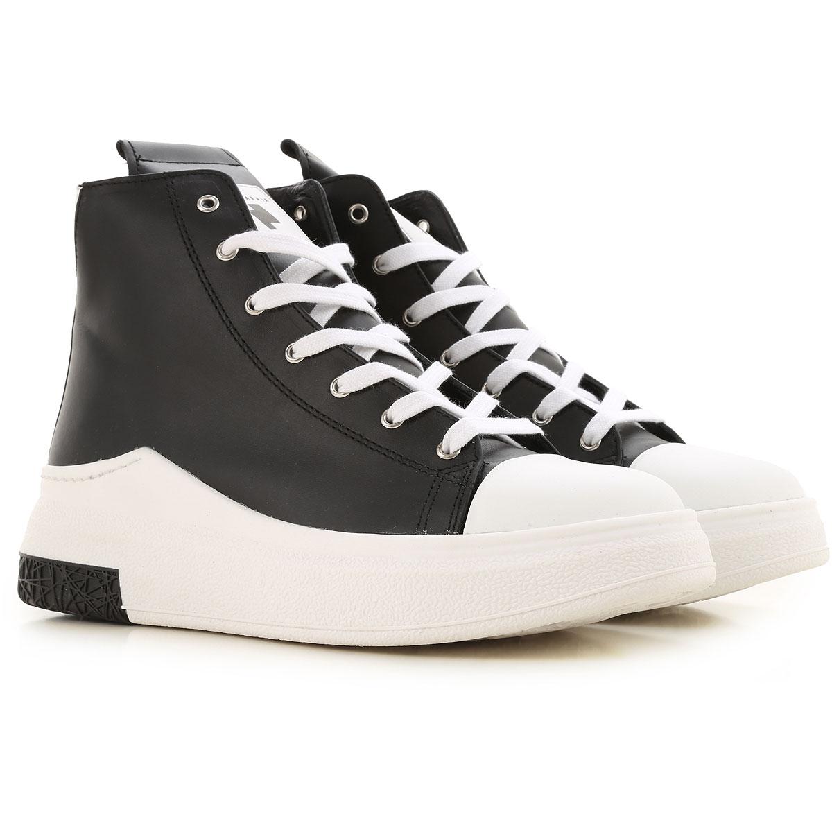 Cinzia Araia Sneaker Homme Pas cher en Soldes, Noir, Cuir, 2019, 40 41 42 43 44
