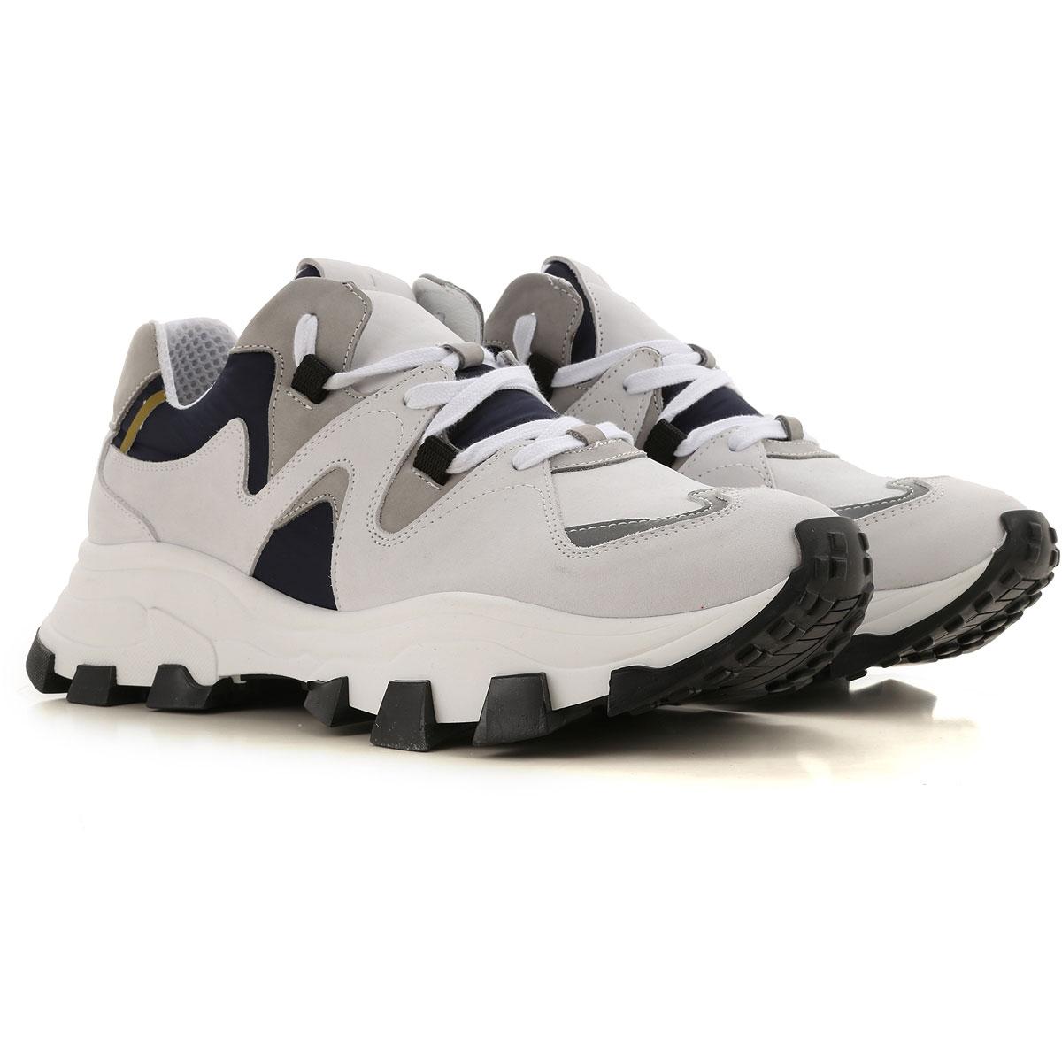 Cinzia Araia Sneaker Homme Pas cher en Soldes, Blanc, Cuir, 2019, 40 41 42 43