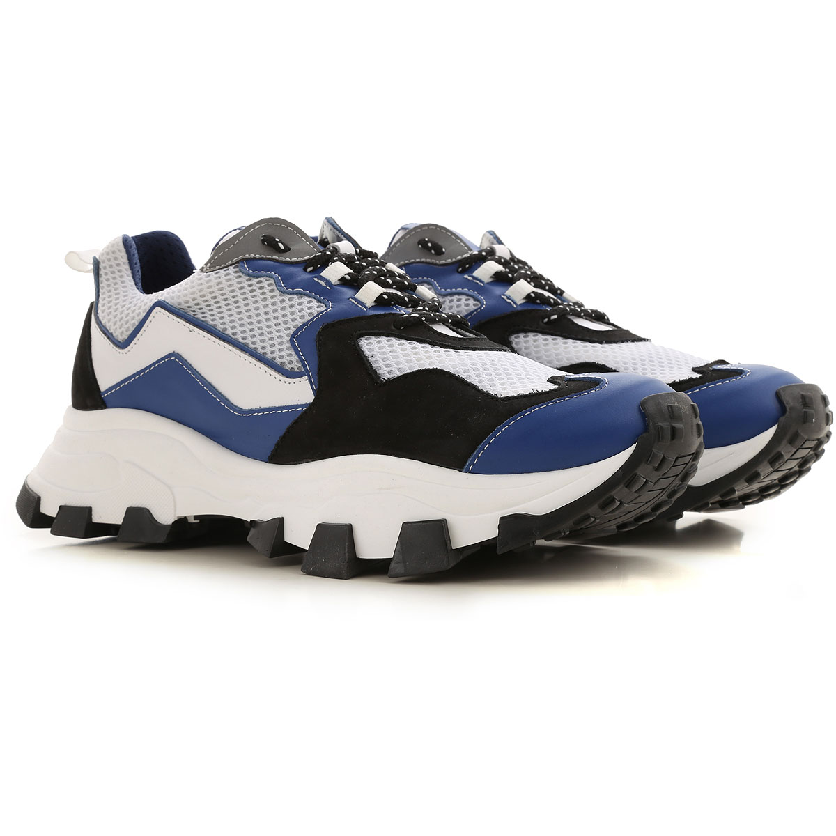 Cinzia Araia Sneaker Homme, Blanc, Cuir, 2019, 40 41 42 43