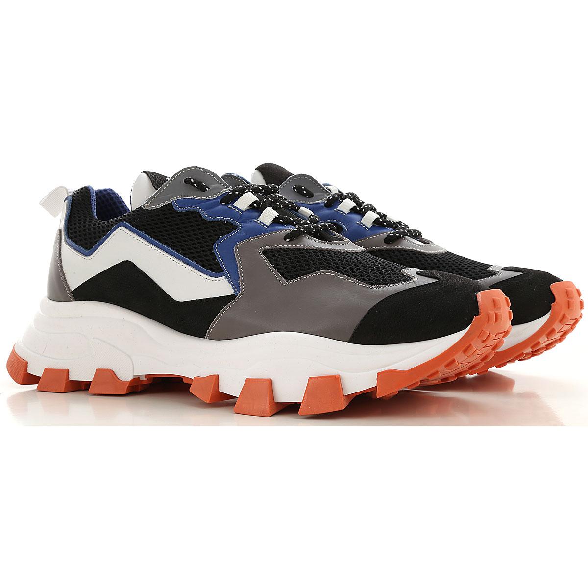 Cinzia Araia Sneaker Homme, Noir, Cuir, 2017, 42 43 44 45