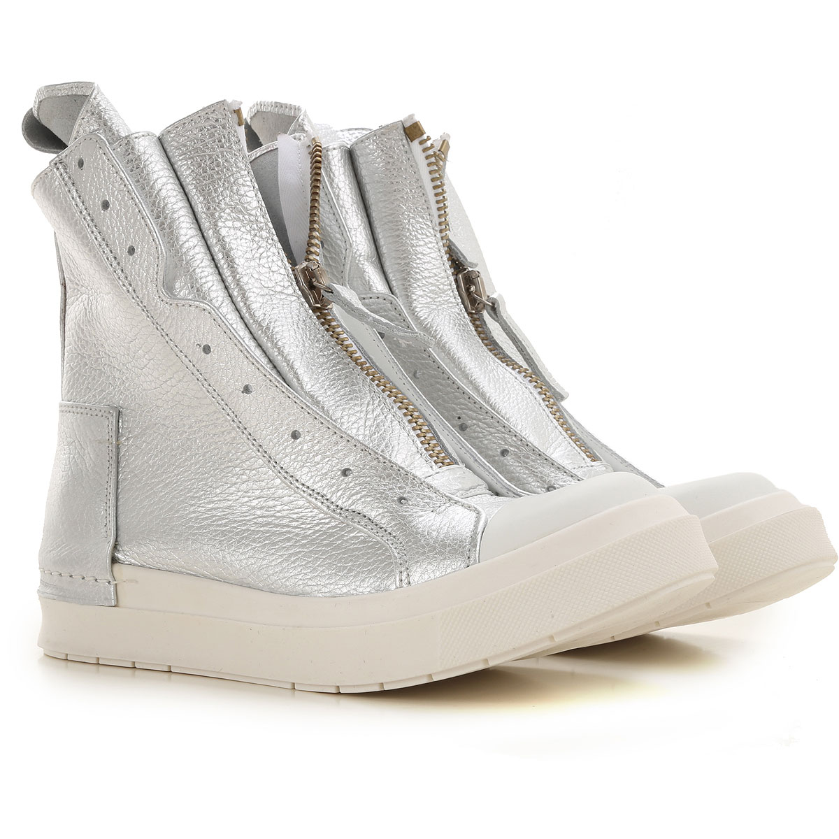 Cinzia Araia Sneaker Femme, Argent, Cuir, 2019, 35 36 37 38 39 40