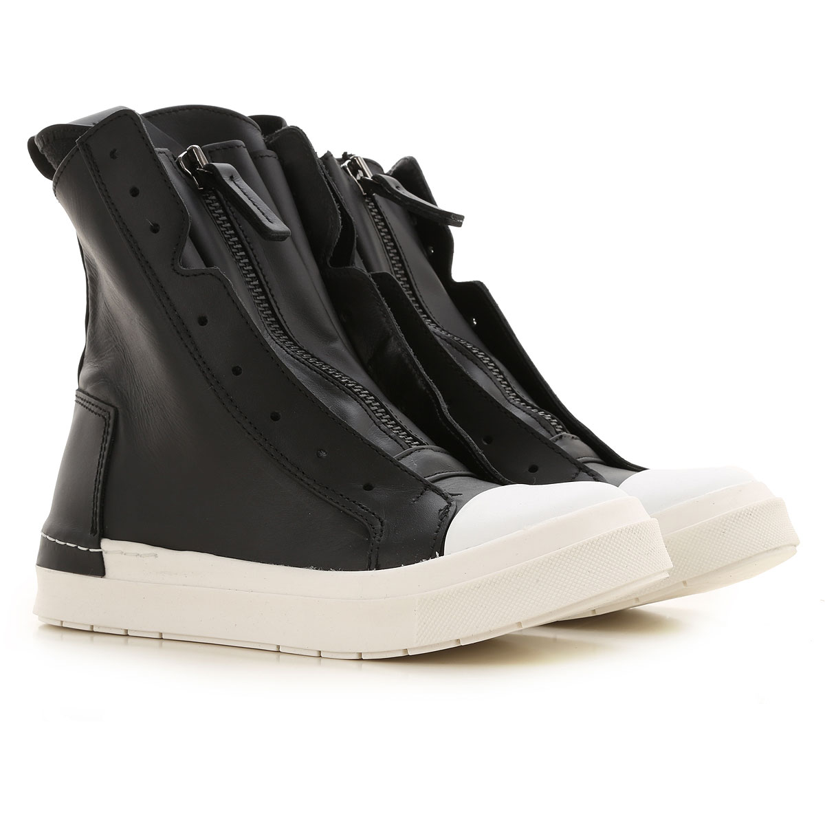 Cinzia Araia Sneaker Femme, Noir, Cuir, 2019, 35 36 37 38 39 40