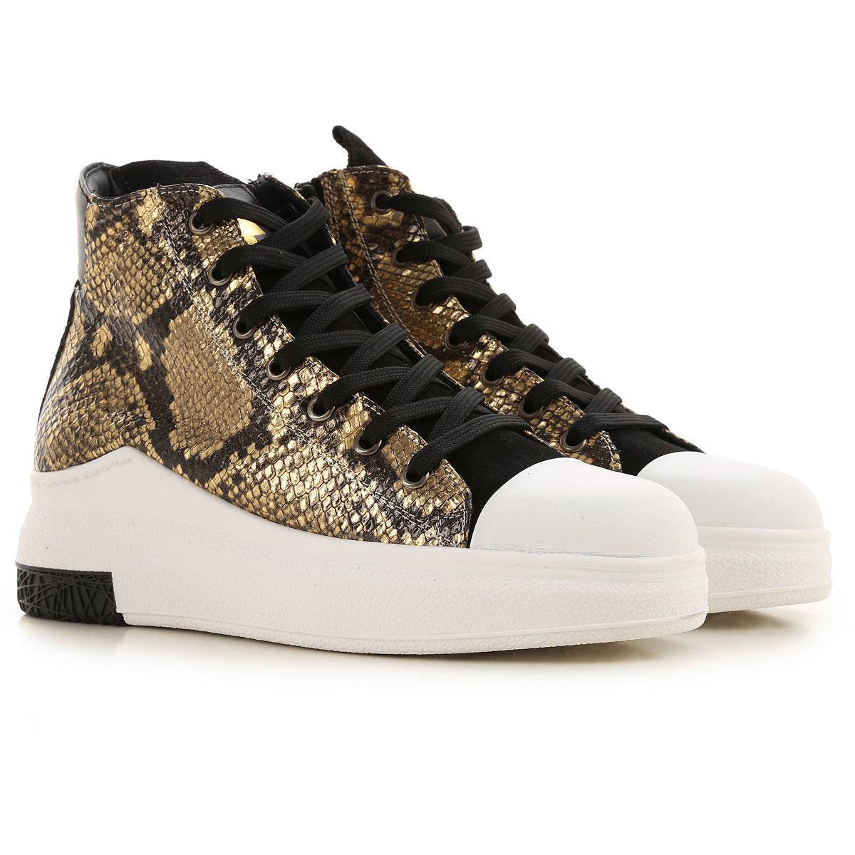 Cinzia Araia Sneaker Femme, Blanc, Cuir, 2019, 35 36 37 38 39 40