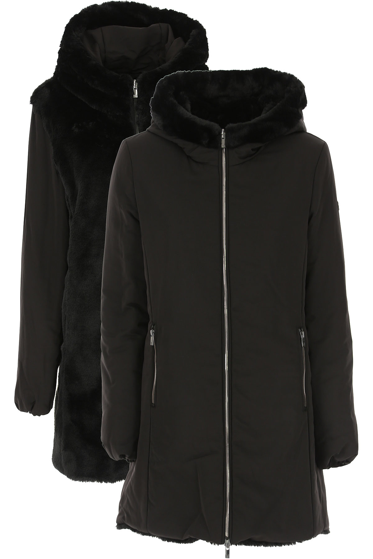 Ciesse Piumini Down Jacket for Women, Puffer Ski Jacket On Sale, Black, Down, 2019, 6 8