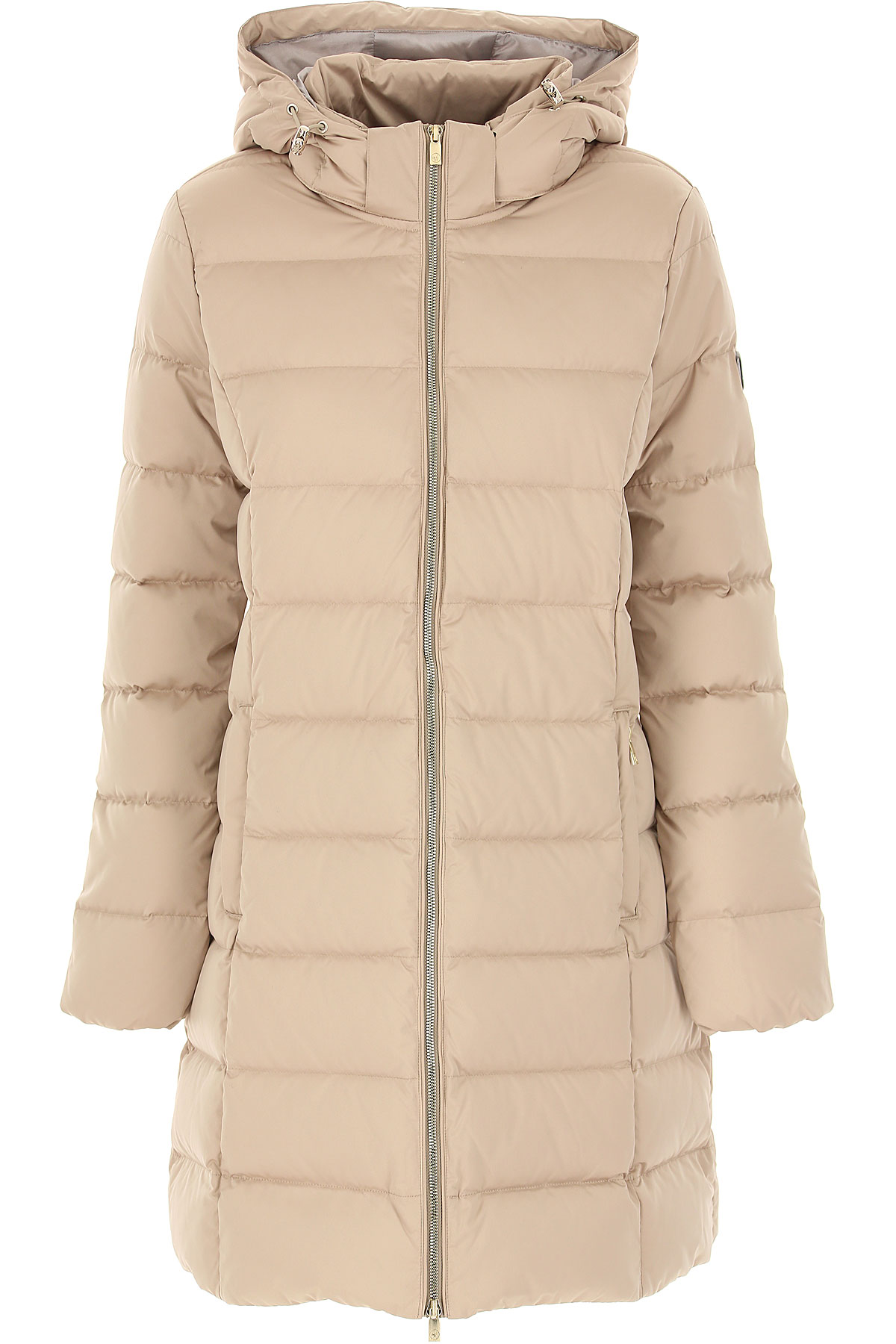 Ciesse Piumini Down Jacket for Women, Puffer Ski Jacket On Sale, Ecru, Down, 2019, 10 4 6 8
