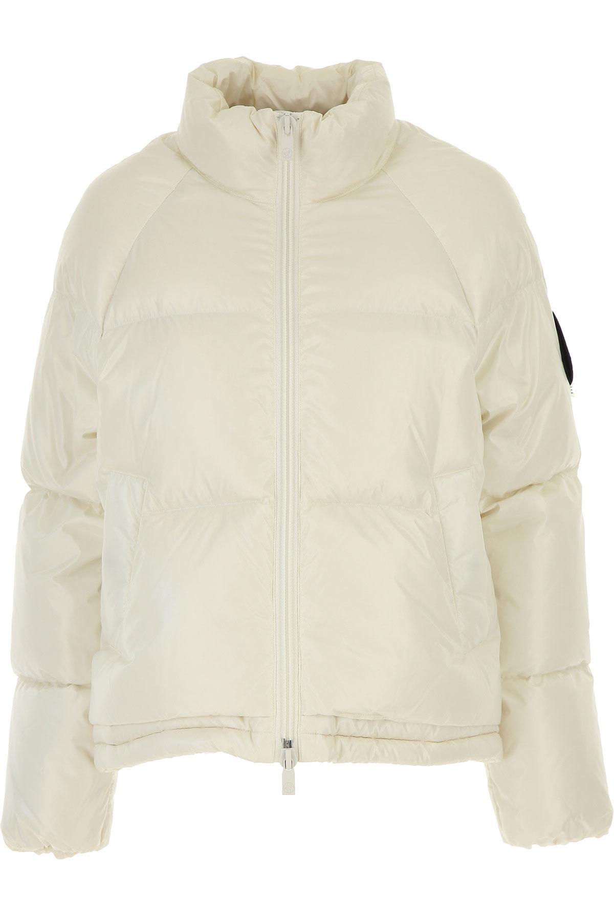 Ciesse Piumini Down Jacket for Women, Puffer Ski Jacket On Sale, Ivory, Nylon, 2019, 4 6
