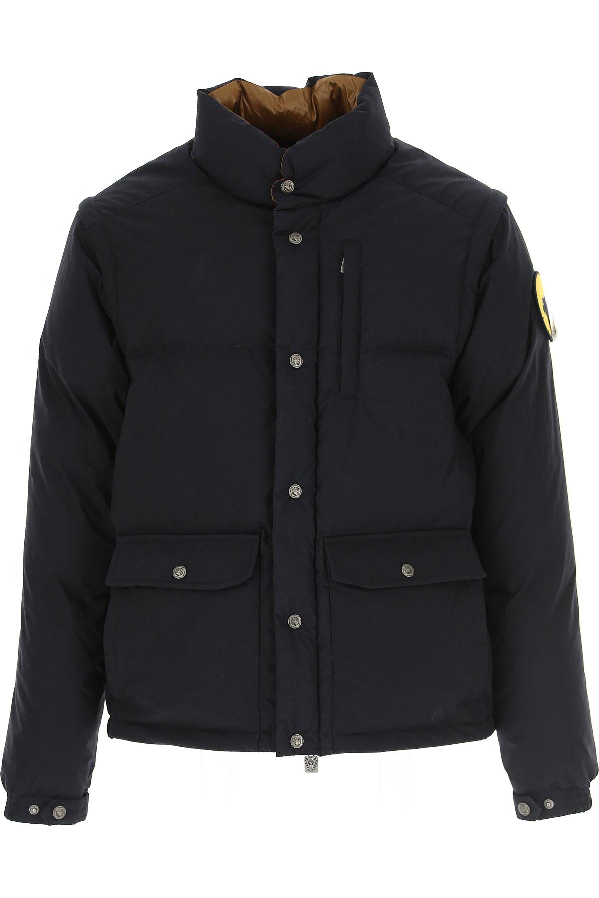 Ciesse Piumini Down Jacket for Men, Puffer Ski Jacket On Sale, Ink, Cotton, 2019, L XL