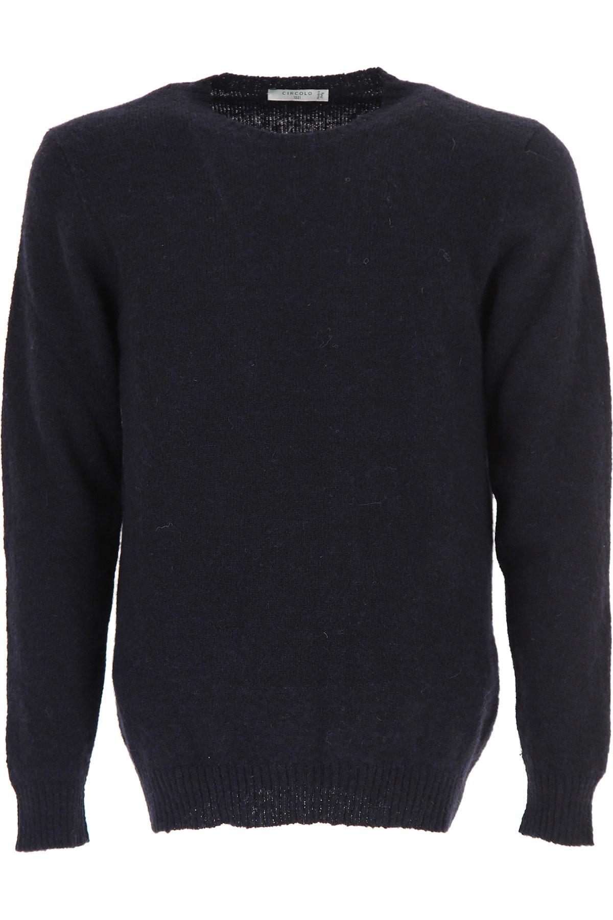 Circolo Sweater for Men Jumper, Night Blue, Camel, 2019, 32 34