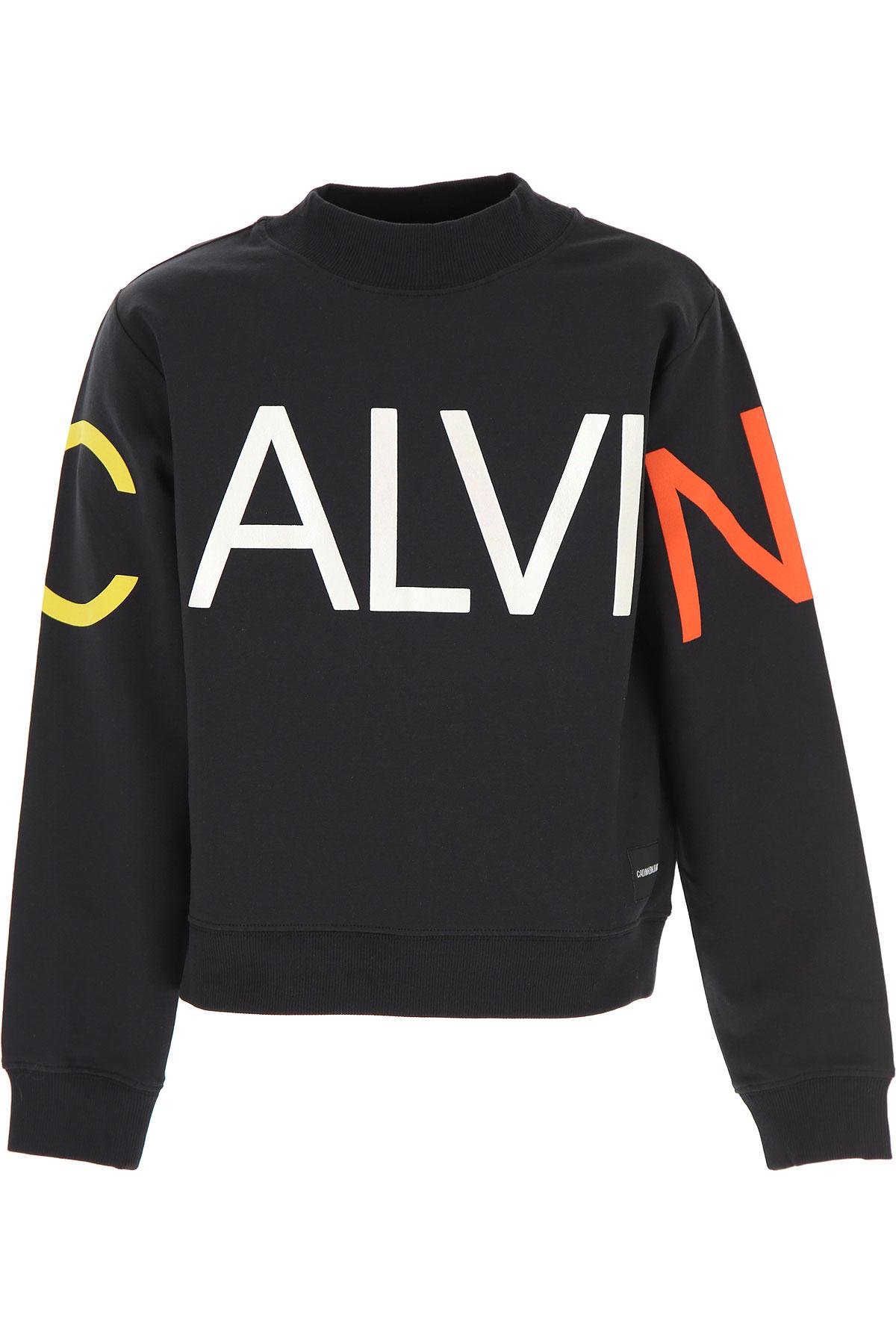 Calvin Klein Pulls Enfant Pour Garçon Pas Cher En Soldes, Noir, Coton, 2019, 10Y 8Y