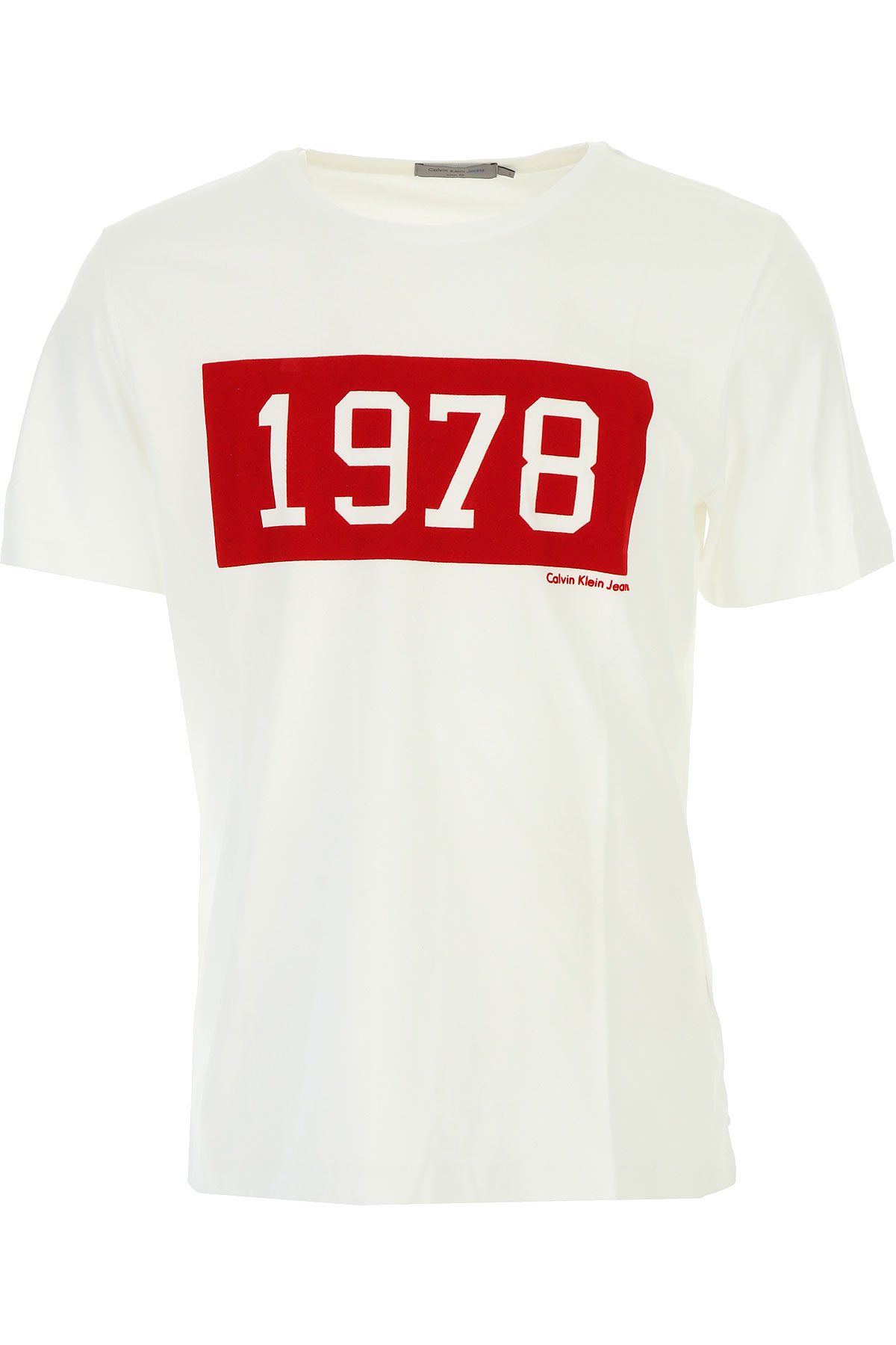 Calvin Klein T-Shirt for Men, White, Cotton, 2017, L M USA-449709
