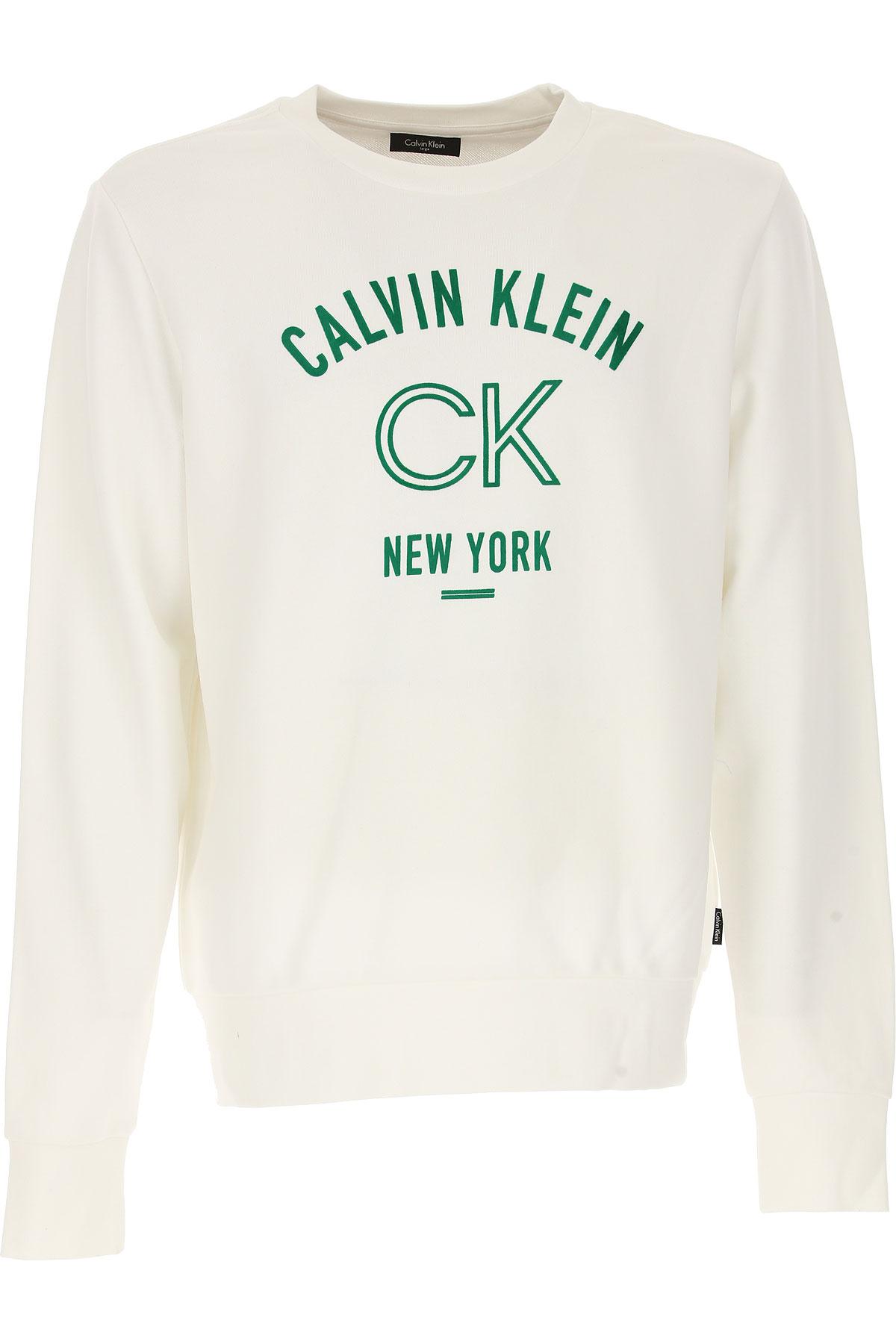 Calvin Klein Sweatshirt for Men, White, Cotton, 2017, L M S XL USA-467656