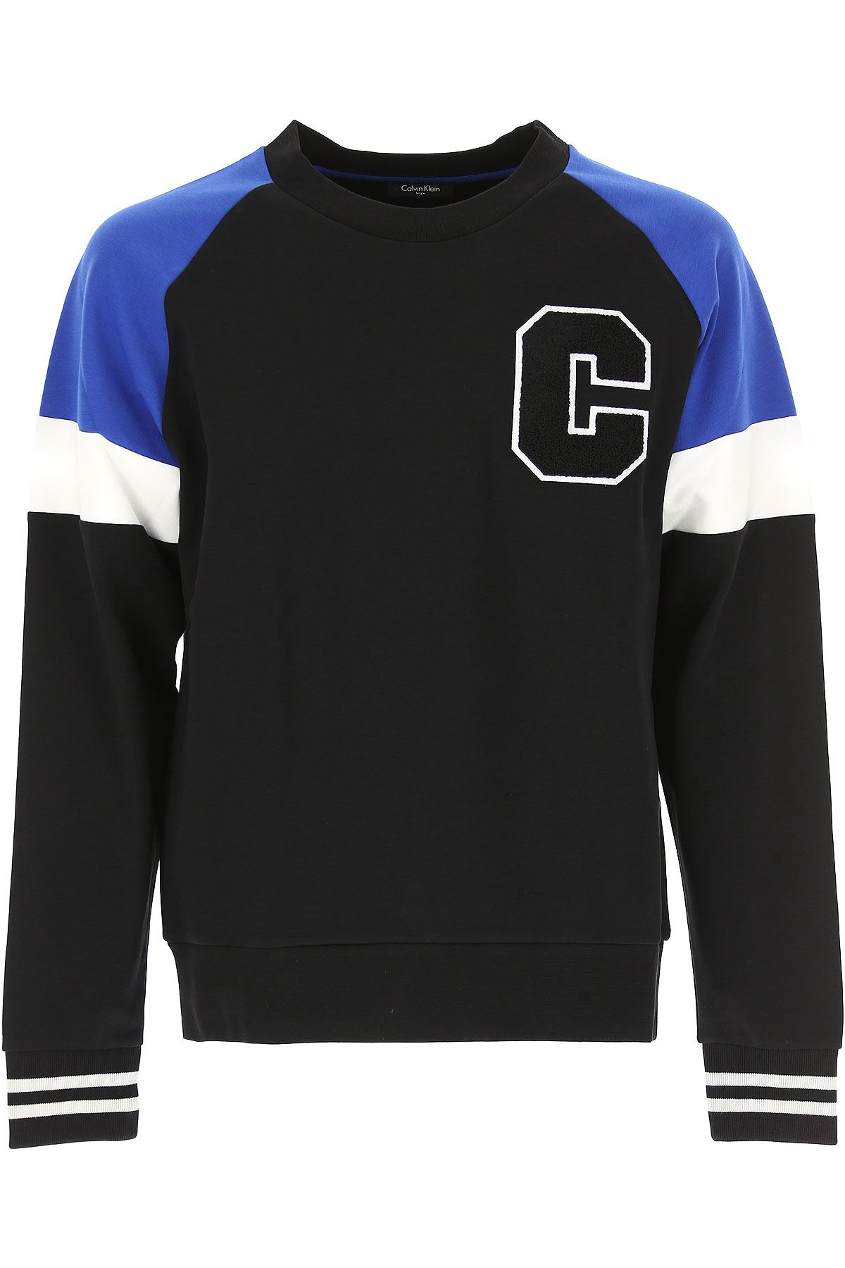 Calvin Klein Sweatshirt for Men, Black, Cotton, 2017, L M S XL USA-467663