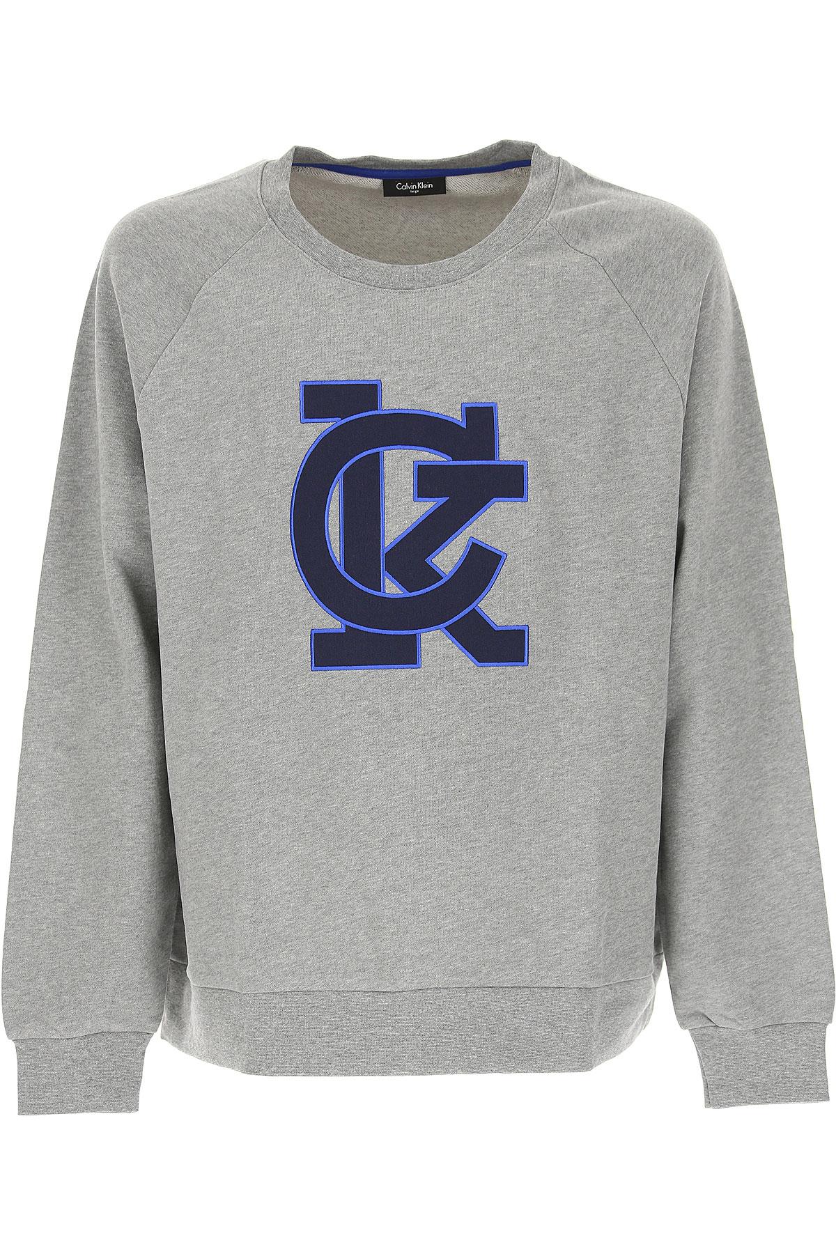 Calvin Klein Sweatshirt for Men, Grey, Cotton, 2017, L M S XL USA-467673