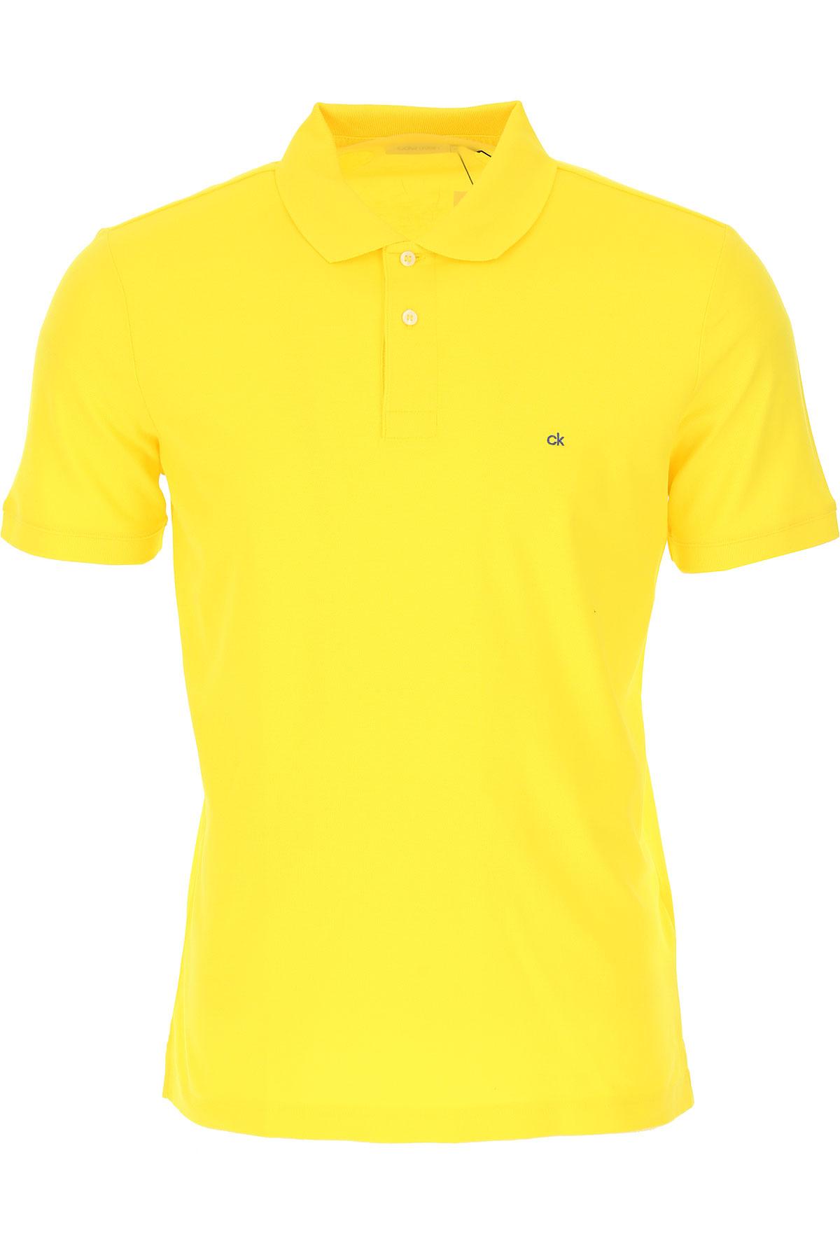 カルバンクライン ポロシャツ男性用 メンズ, イエロー, コットン, 2017, L M S XL XS