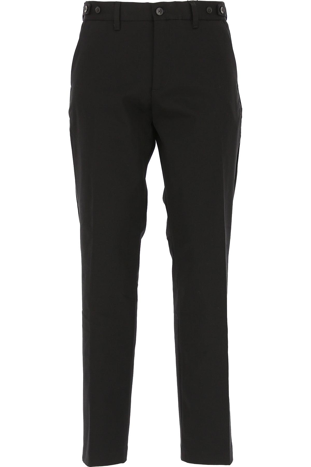 Calvin Klein Pants for Men On Sale in Outlet, Black, Cotton, 2019, 30 36