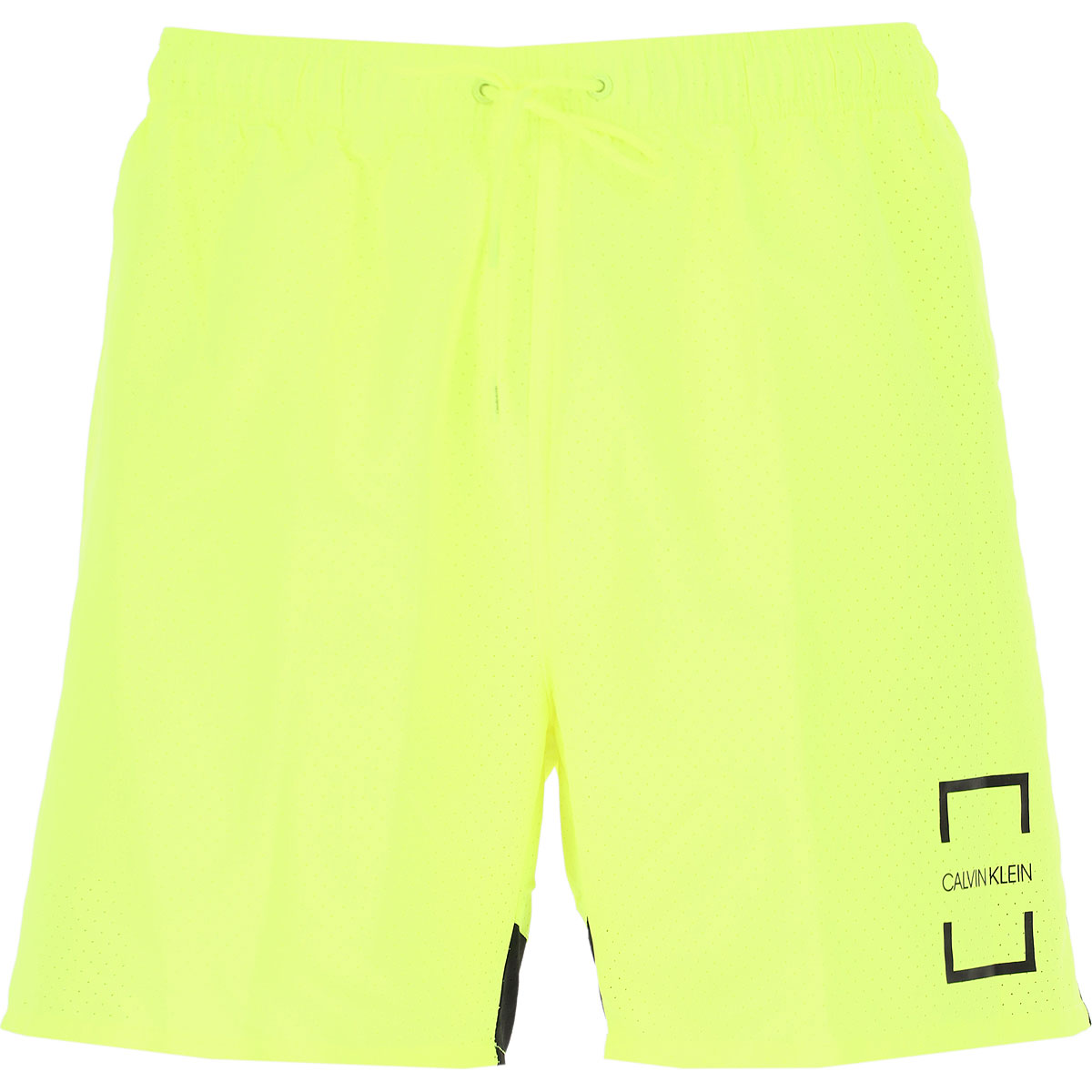 Calvin Klein Swim Shorts Trunks for Men On Sale, fluo yellow, polyestere, 2019, S M L