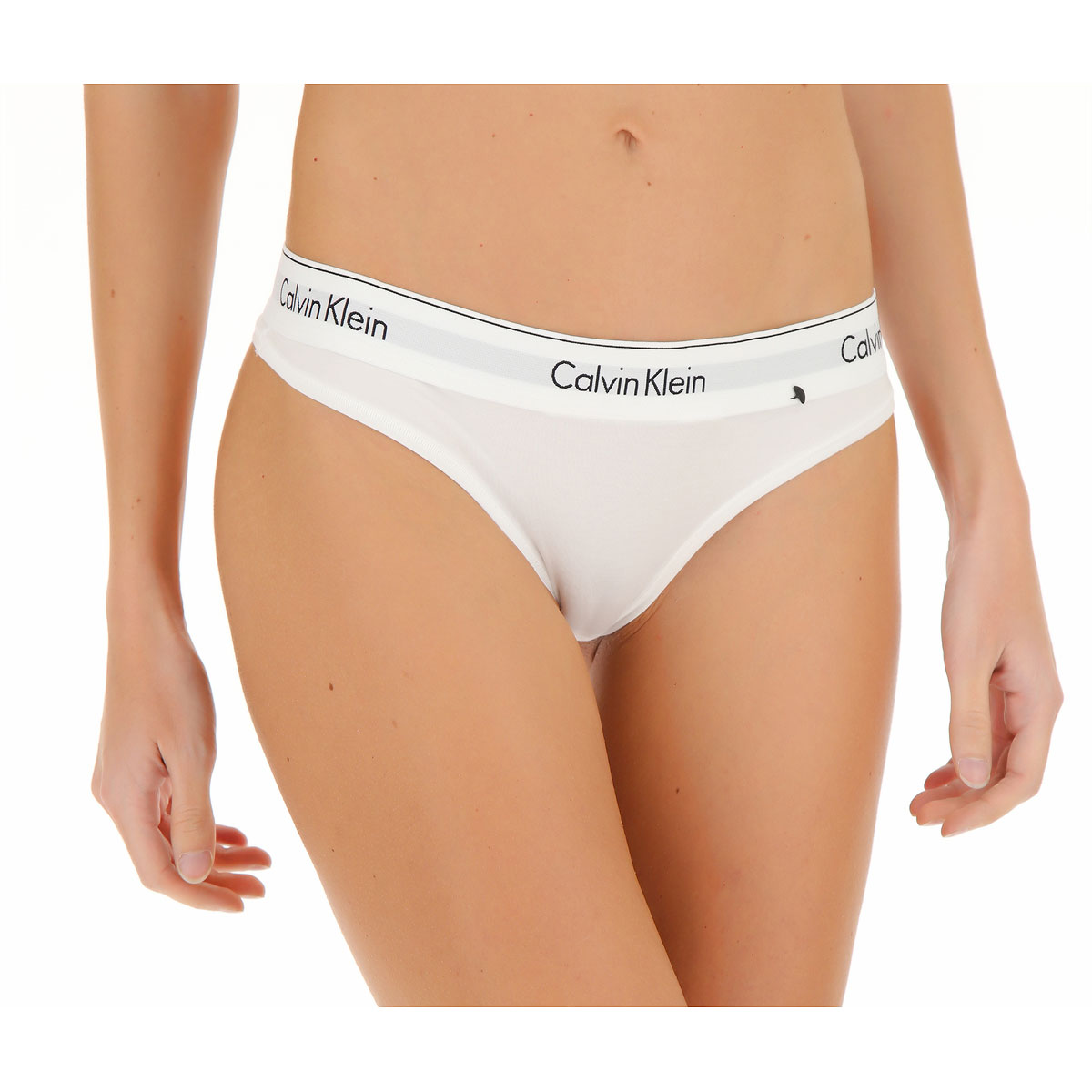 Calvin Klein Lingerie Underwear for Women On Sale, White, Cotton, 2019, 2 4 6 8