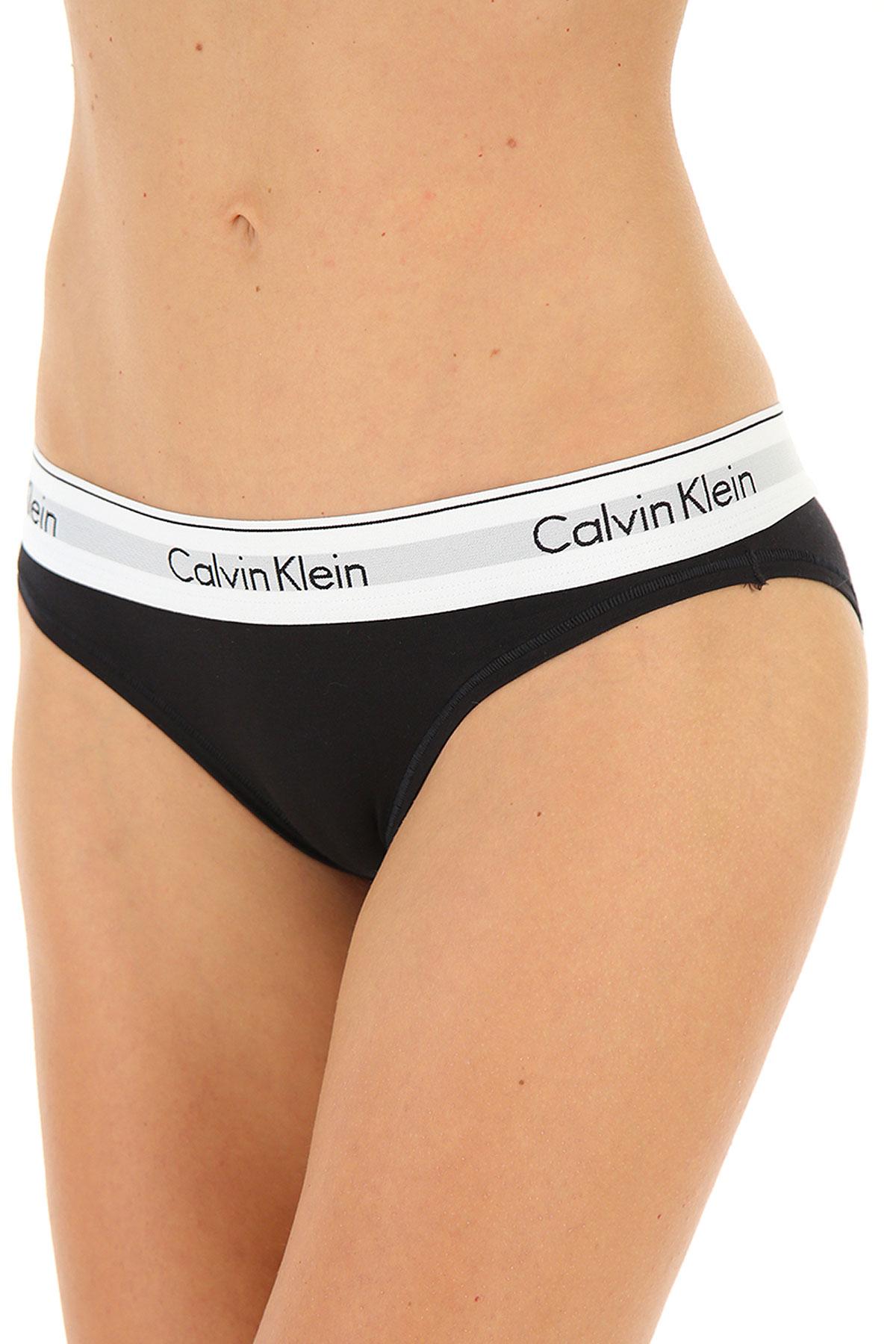 Calvin Klein Lingerie Underwear for Women On Sale, Black, Cotton, 2019, 6