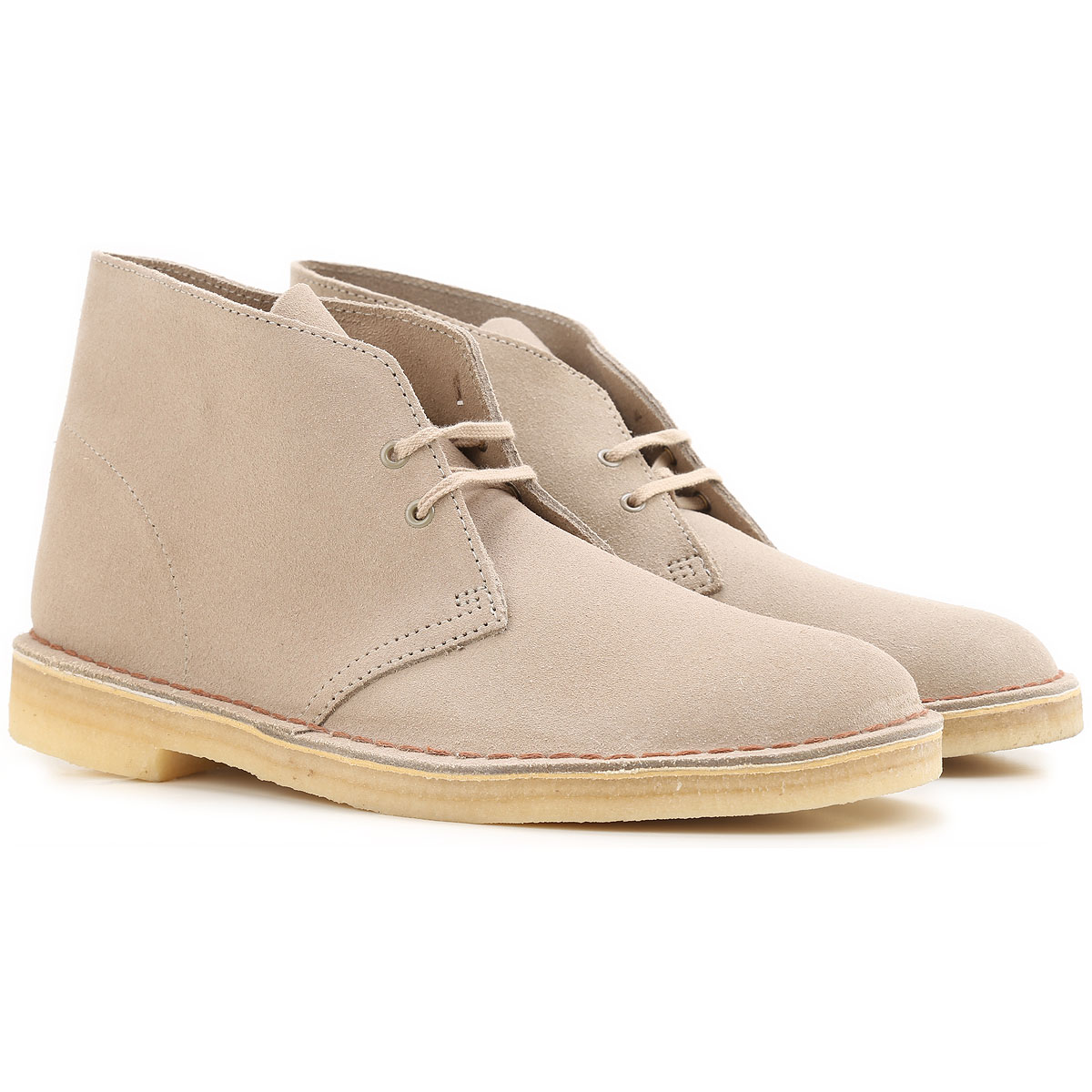 Image of Clarks Desert Boots Chukka for Men, Sand, Suede leather, 2017, 10 11 11.5 8 9 9.5