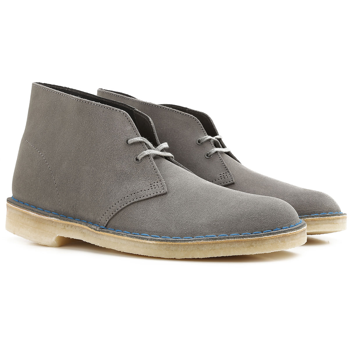 Image of Clarks Desert Boots Chukka for Men, Stone Grey, Suede leather, 2017, 10 8.5 9 9.5