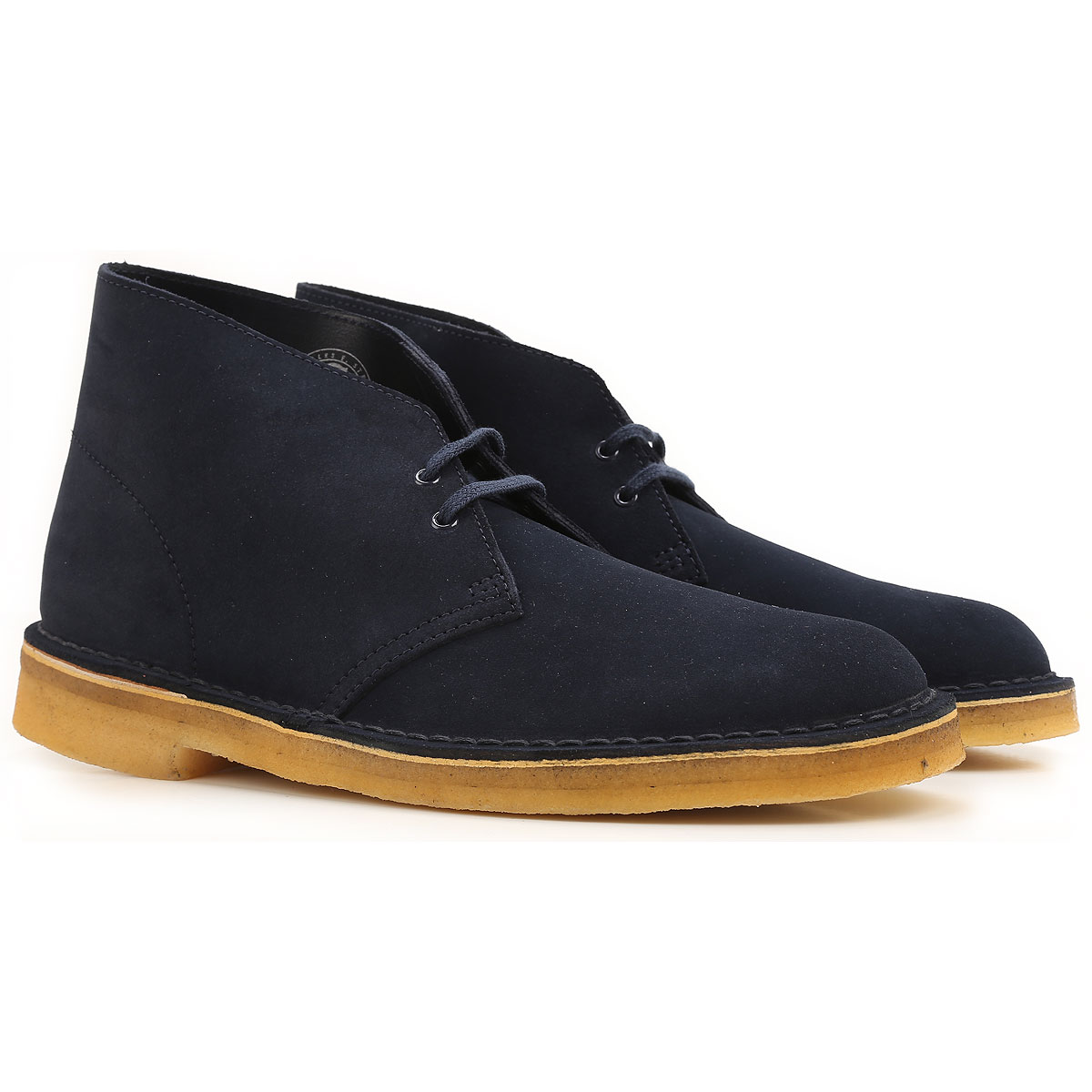 Image of Clarks Desert Boots Chukka for Men On Sale, Dark Midnight, Suede leather, 2017, 10.5 11 11.5 9.5