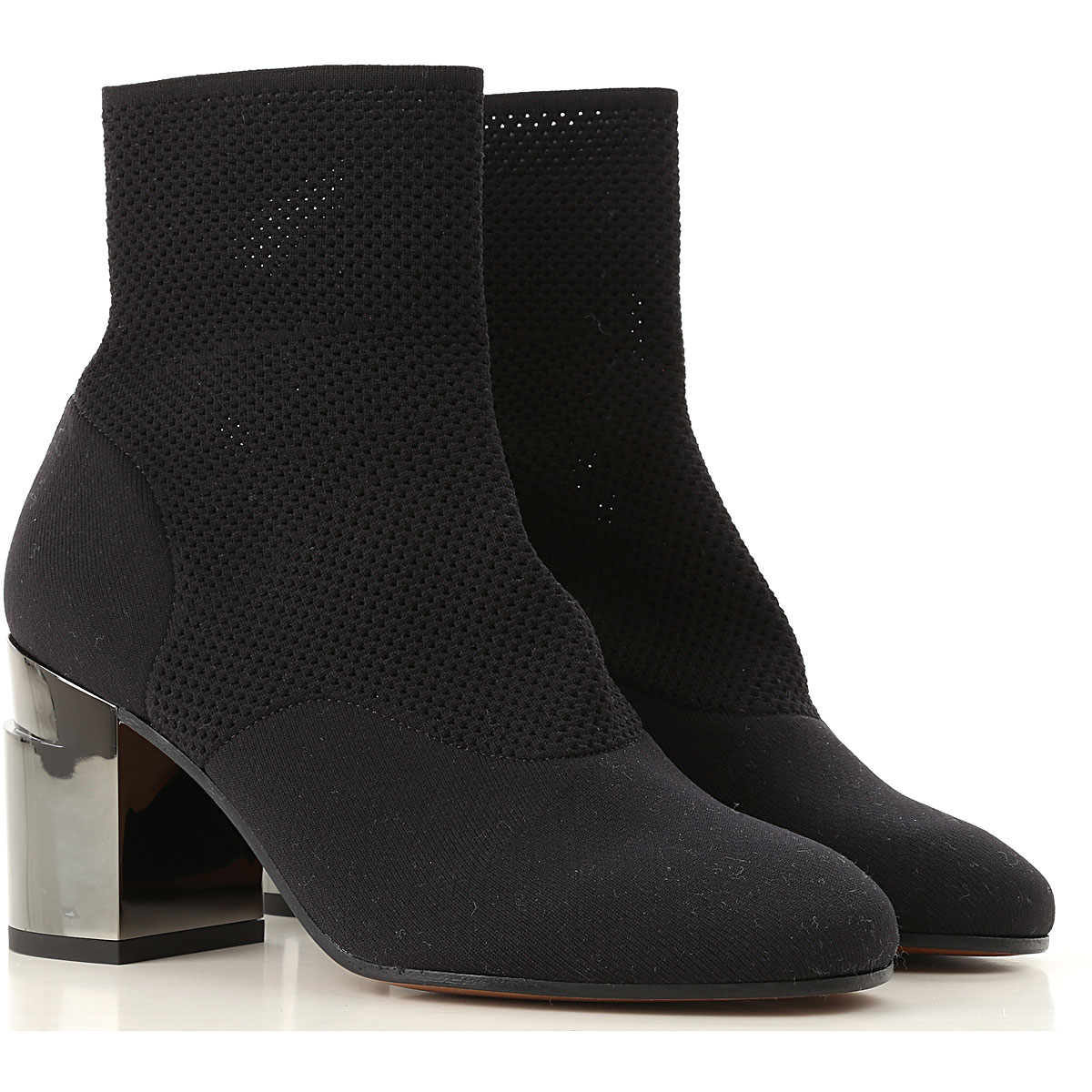 Image of Clergerie Paris Boots for Women, Booties, Black, Fabric, 2017, 10 11 6 7 8 8.5 9