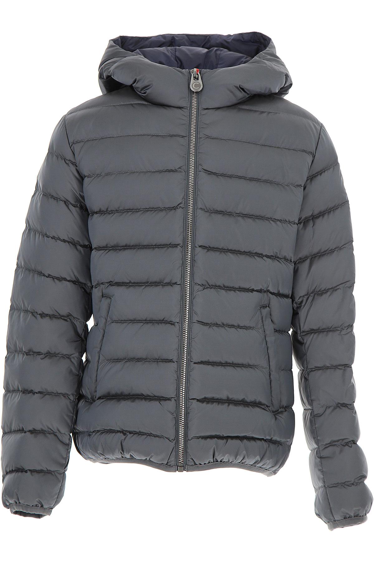 Image of Colmar Boys Down Jacket for Kids, Puffer Ski Jacket On Sale in Outlet, Avio Grey, polyamide, 2017, 10Y 6Y