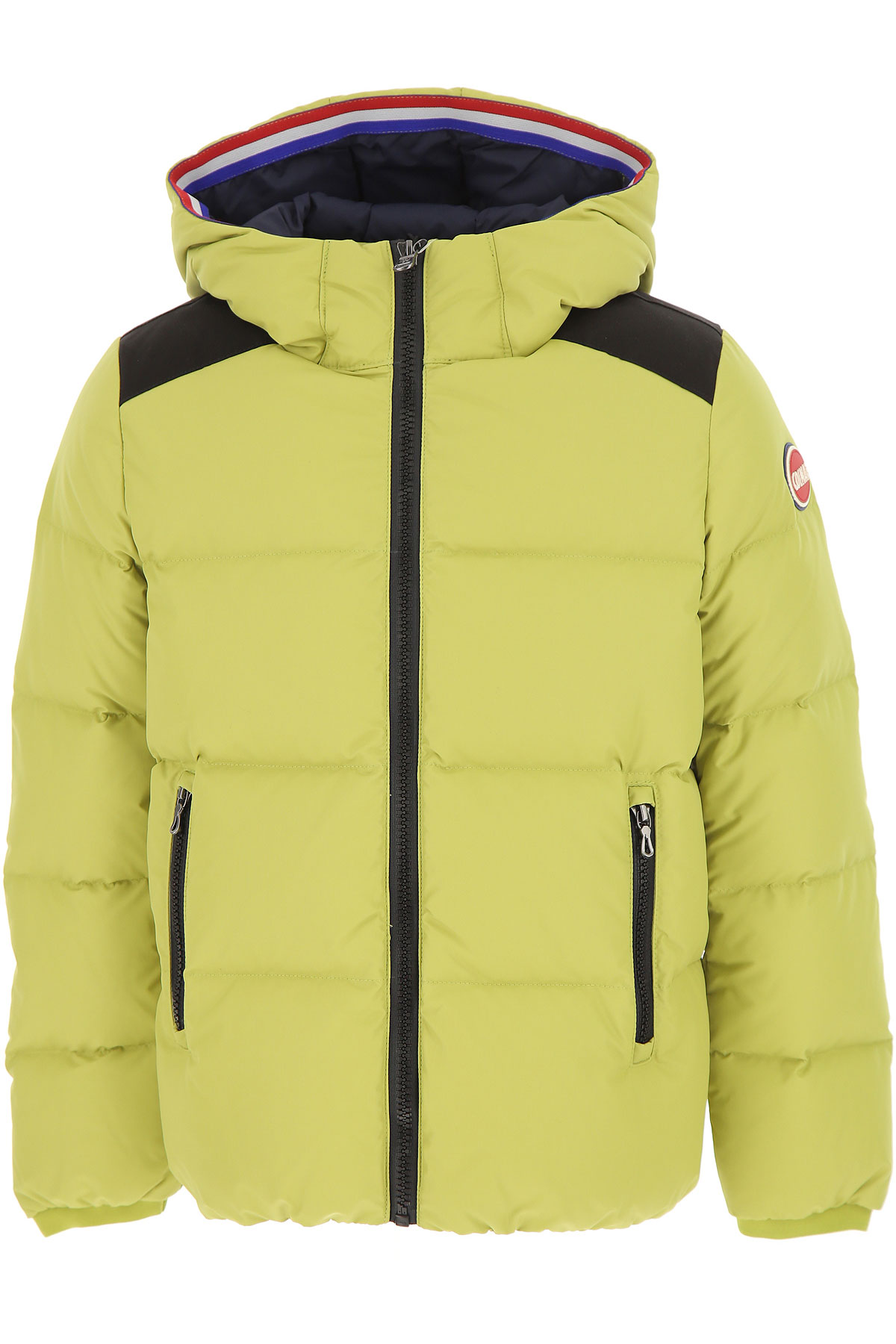 Image of Colmar Boys Down Jacket for Kids, Puffer Ski Jacket, Lime Green, polyamide, 2017, 10Y 14Y 16Y 8Y