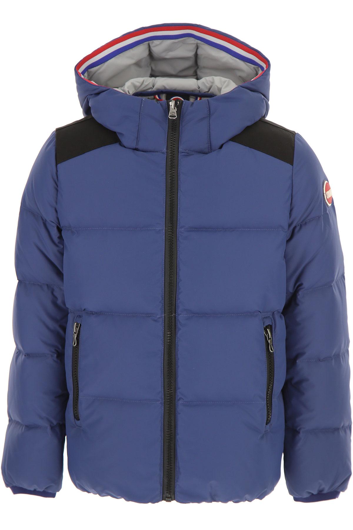Image of Colmar Boys Down Jacket for Kids, Puffer Ski Jacket, Blue, polyamide, 2017, 10Y 14Y 16Y 8Y